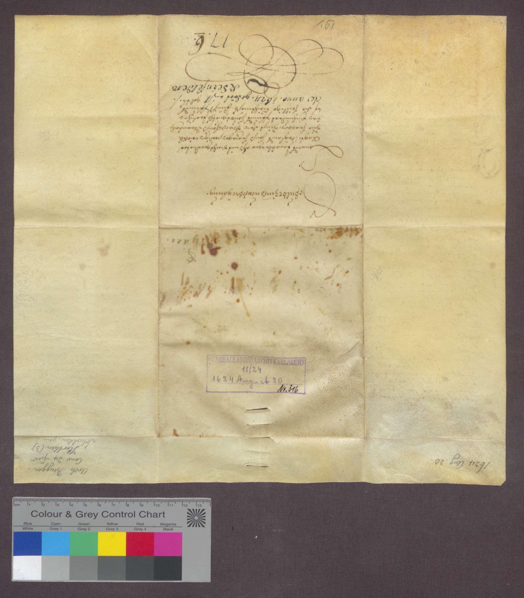Die Witwe Hans Herzogs zu Herten verschreibt sich gegenüber der Kirche zu Warmbach wegen jährlich 5 Pfund Stebler Zins aus 100 Pfund Kapital., Bild 2