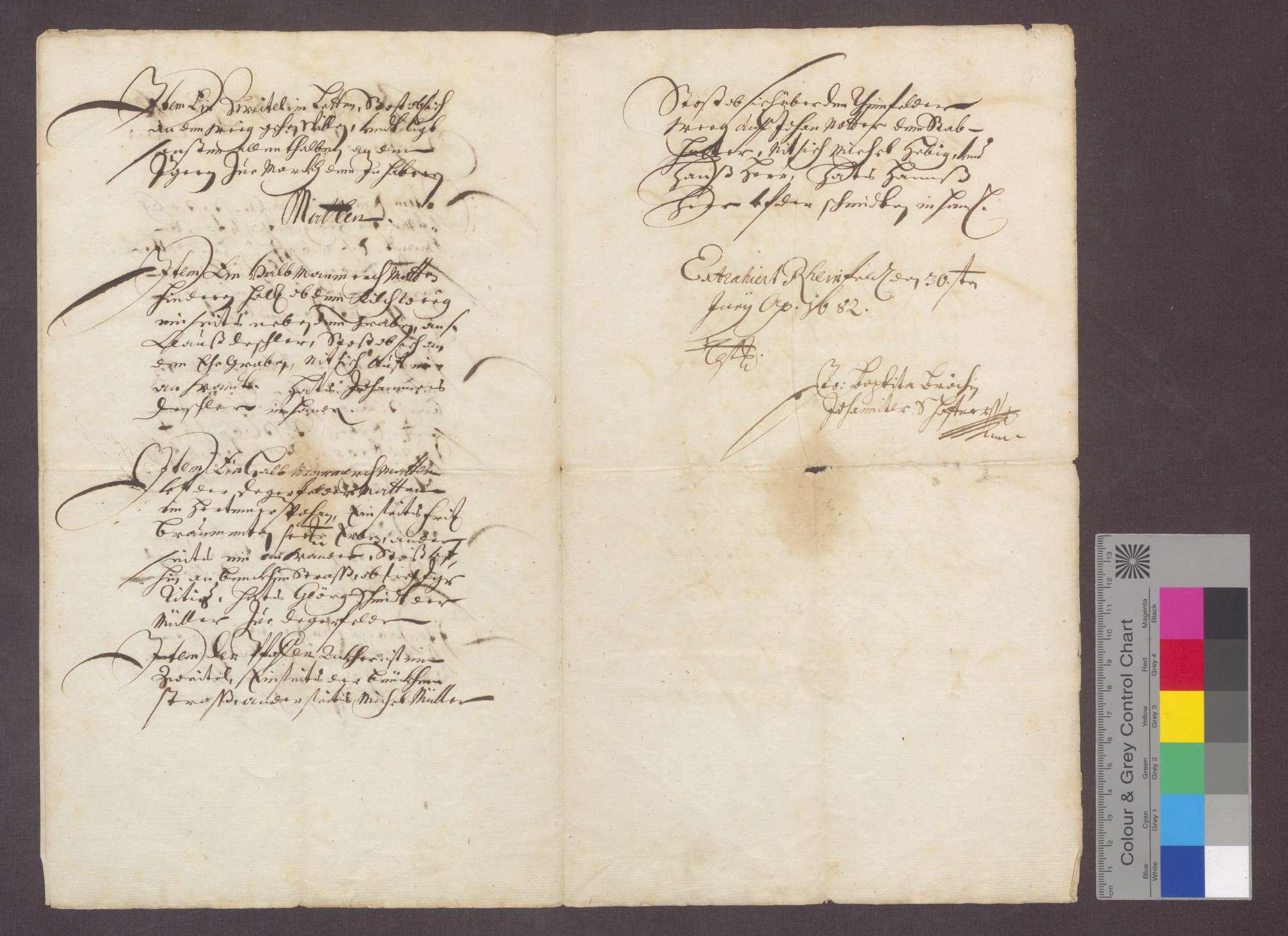 Auszug aus alten und neuen Berainen über die Herter Gemarkung betreffend die dem Johanniter-Haus zu Rheinfelden gehörigen zehntbaren Stücke und Güter., Bild 3