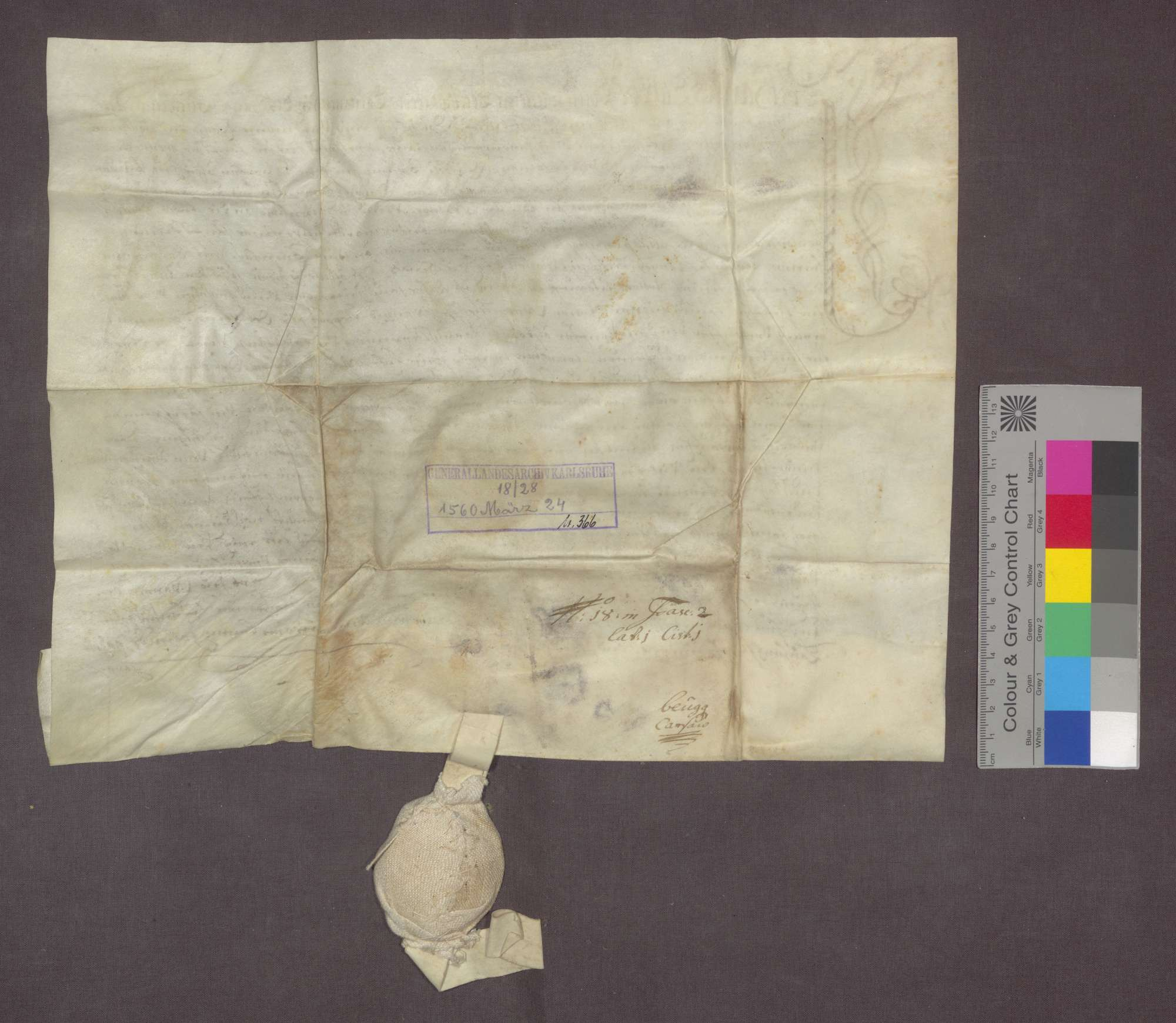 Der Hans Kaspar von Jestetten, Komtur zu Beuggen, verkauft an seinen Schreiber Diebold Babst, Haus, Hofreite, Stall und Garten um 50 Pfund Stebler (Ort nicht angegeben)., Bild 2