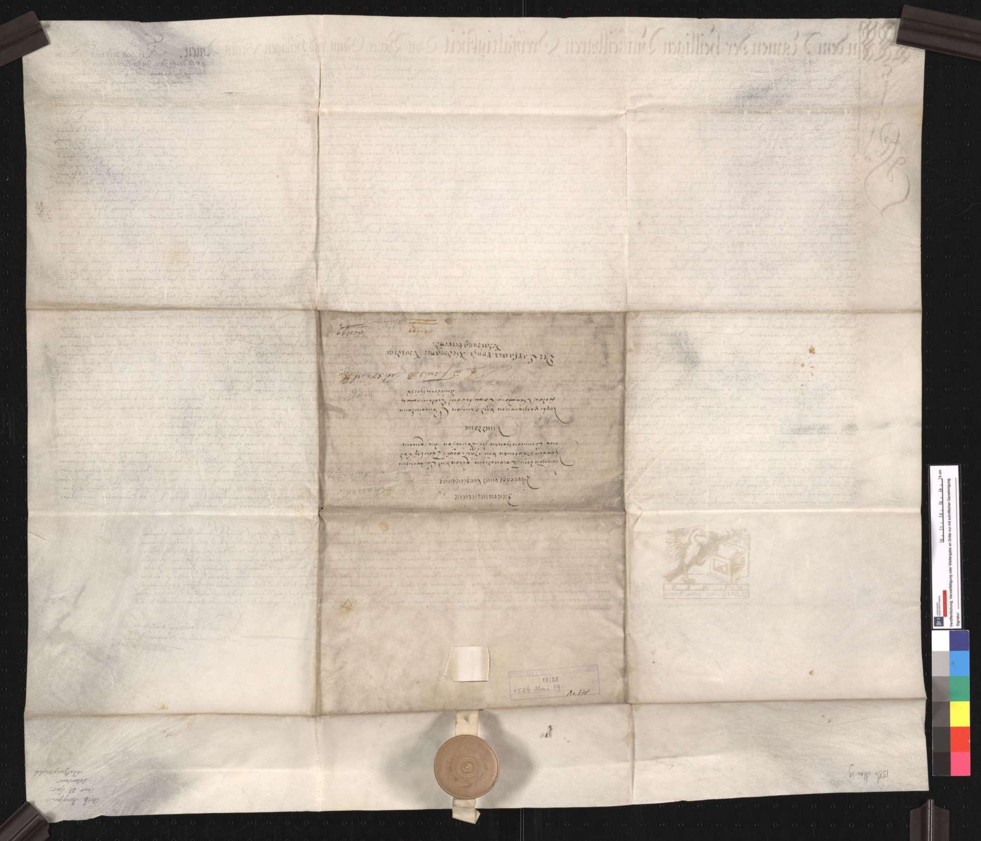 Notariatsinstrument über einen Vertrag zwischen Hartmann von Hallwil, Komtur zu Beuggen, und den Gemeinden Karsau und Riedmatt, wegen der von diesen zu entrichtenden Schatzung., Bild 2