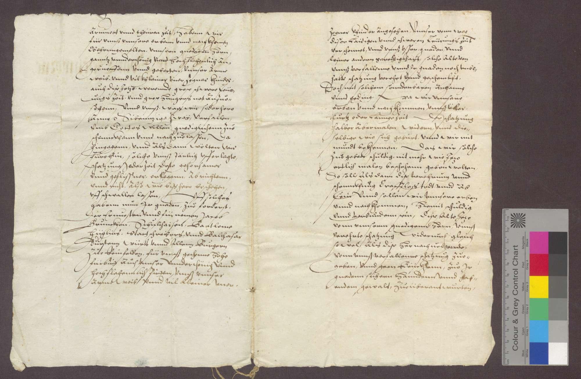 Vogt, Geschworene und Gemeinde zu Karsau und Riedmatt reversieren gegenüber Hartmann von Hallwil, Komtur zu Beuggen, wegen der der Kommende geschuldeten Schatzung., Bild 2