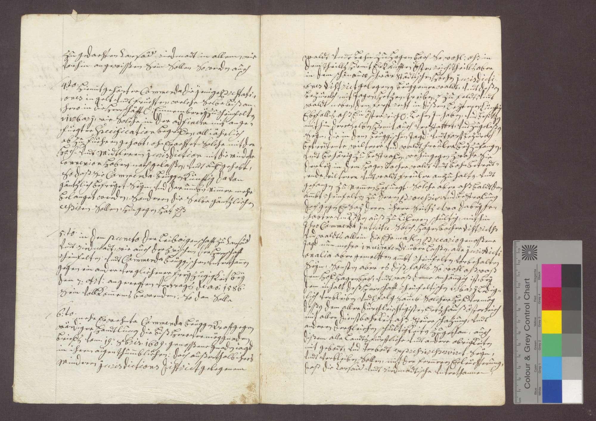 Vertrag zwischen der Kommende Beuggen und einer kaiserlichen Kommission wegen der Gerichtsbarkeit zu Karsau und Riedmatt., Bild 3