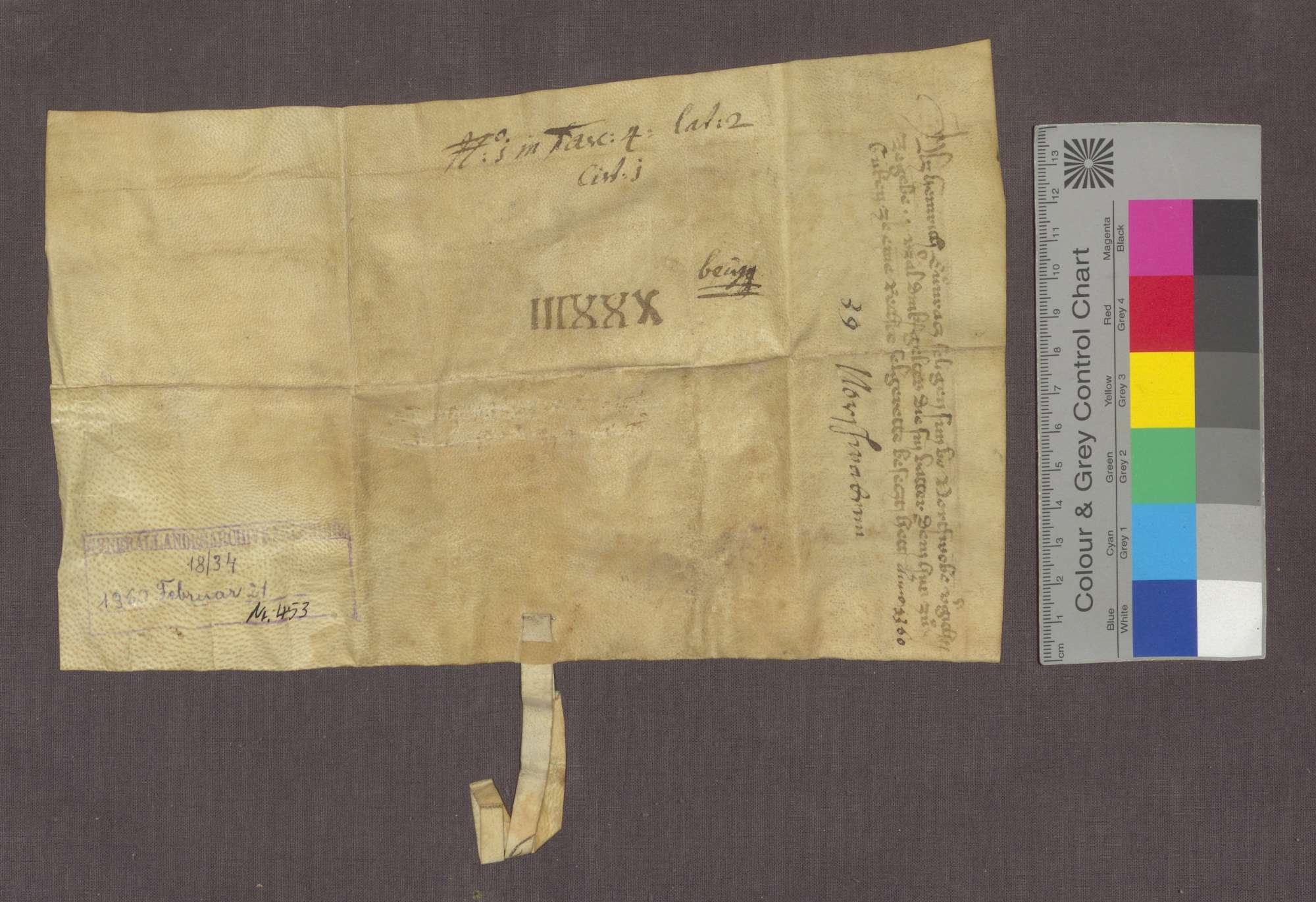 Heinrich, Sohn der verstorbenen Konrad von Nordschwaben, verschreibt dem Deutsch-Ordens-Haus zu Beuggen eine Gült von 1 Viernzel Dinkel von einem Seelgerät, das sein Vater bestellt hatte., Bild 2