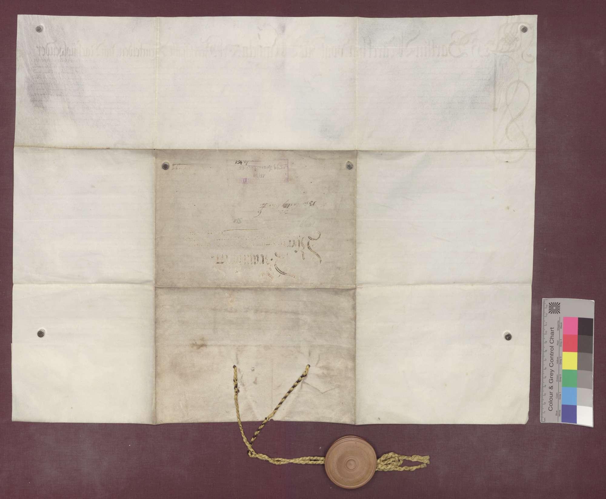 Vor Bartlin Märckin, Vogt zu Minseln, und dem Gericht zu Eichsel, werden auf Bitten Hartmann von Hallwils, Komturs zu Beuggen, die Besitzungen der Kommende Beuggen beraint., Bild 2