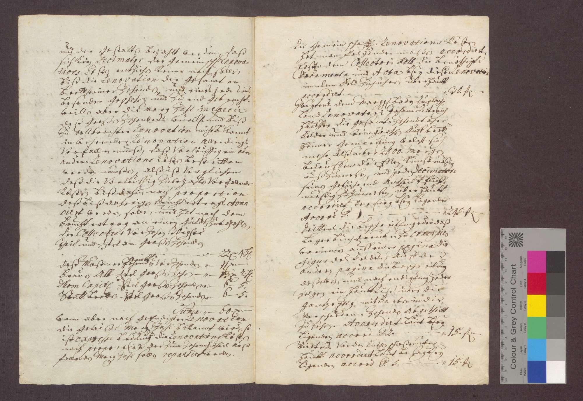 Die Dezimatoren zu Bretten vergleichen sich, da seit 1562 keine Hauptrenovation des gesamten Zehnten von Brettener Gemarkung vorgenommen wurde, wegen der entsprechenden Anteile zu repartierenden Kosten einer Renovation., Bild 2
