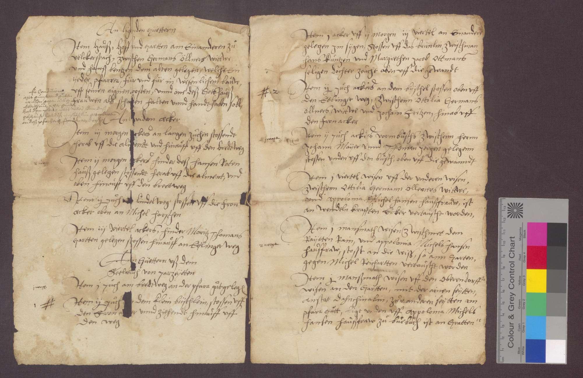 Kompetenz der Pfarrei zu Völkersbach, aufgestellt von Leonhard Lölar von Pfullendorf am Bodensee, derzeit Pfarrer zu Völkersbach (Fragment)., Bild 2