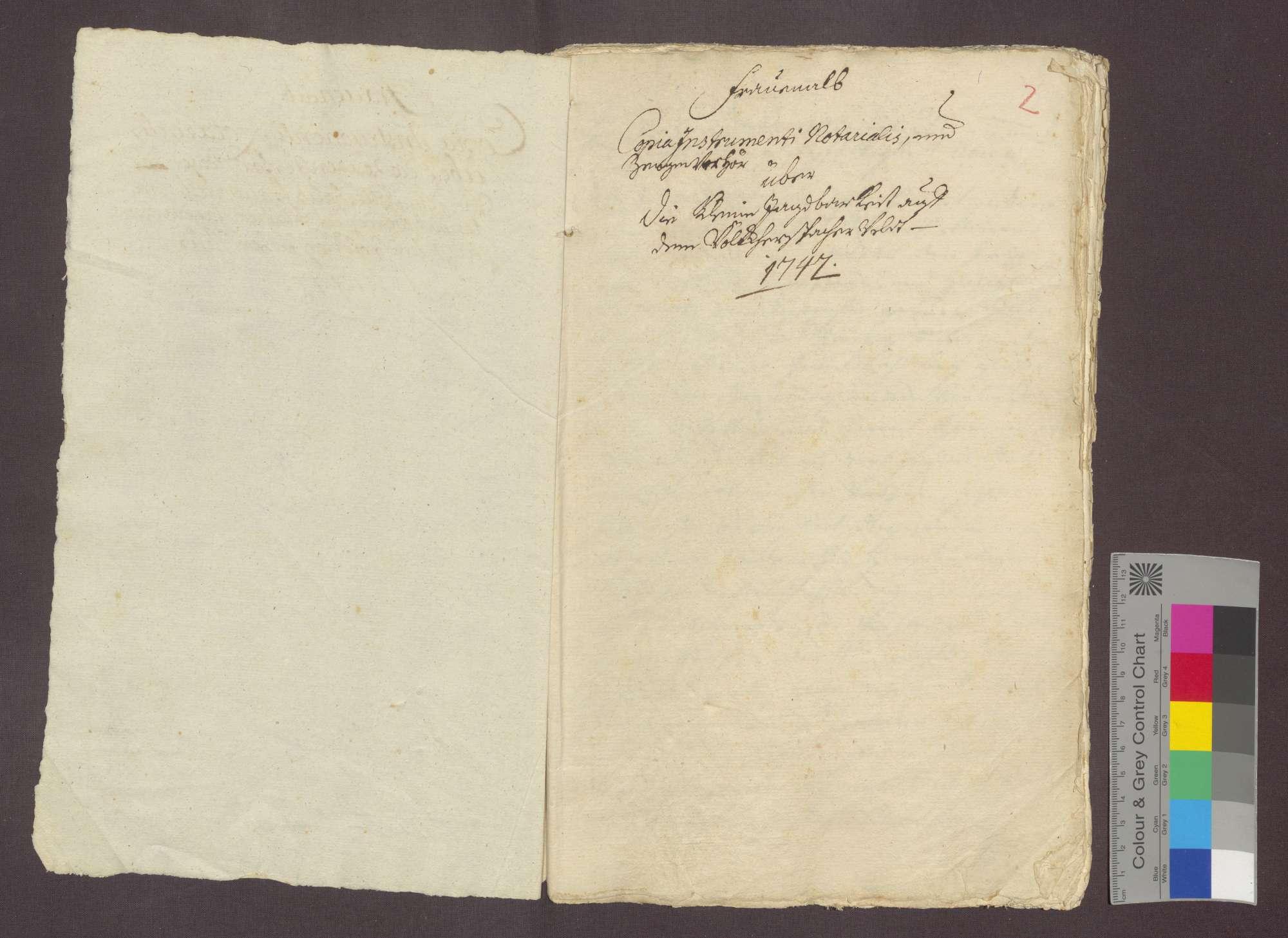 Der Notar Johann Maier beurkundet ein Zeugenverhör betreffend die vom Kloster Frauenalb beanspruchte kleine Jagd zu Völkersbach., Bild 2