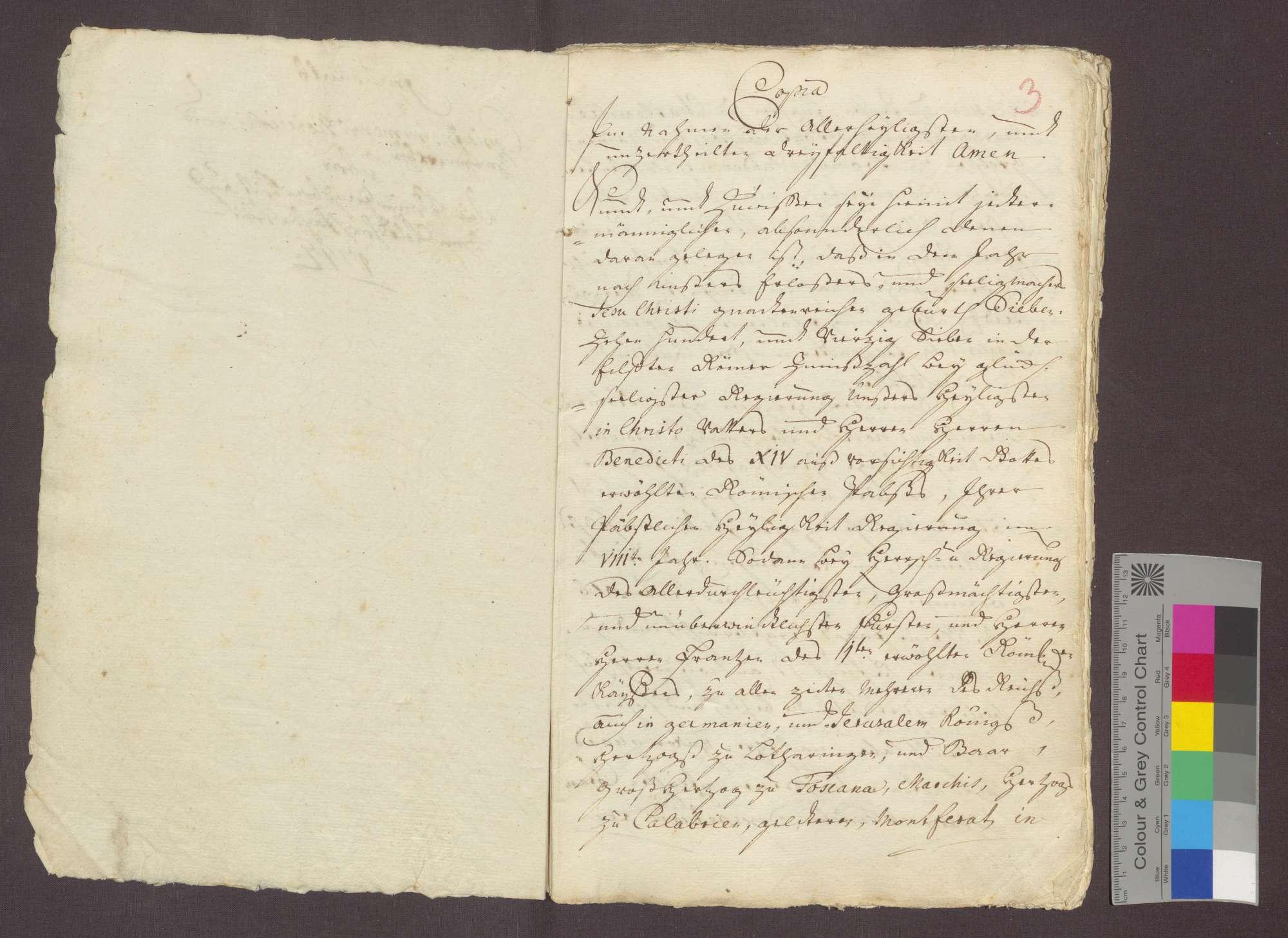 Der Notar Johann Maier beurkundet ein Zeugenverhör betreffend die vom Kloster Frauenalb beanspruchte kleine Jagd zu Völkersbach., Bild 3