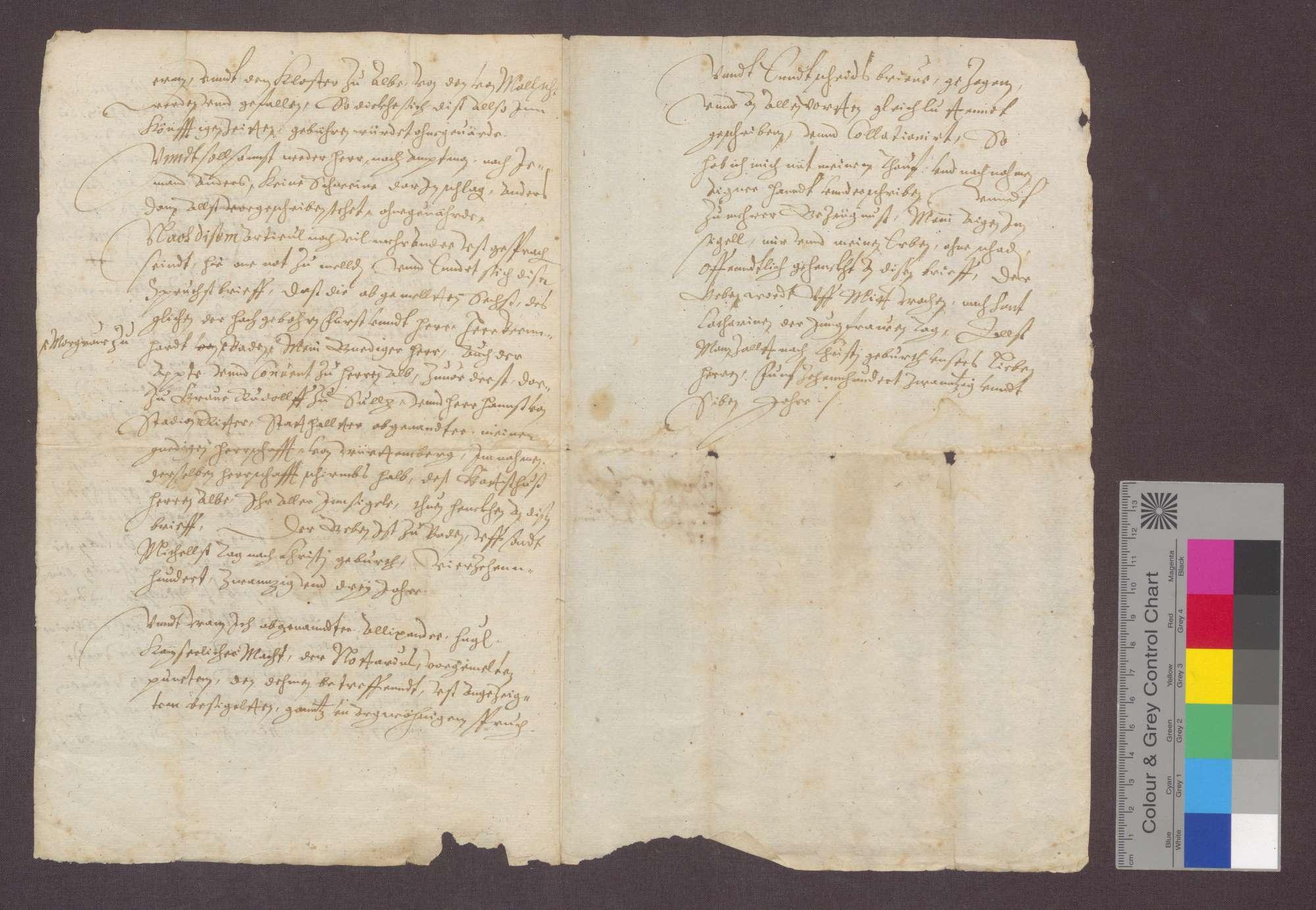 Der Notar Alexander Hugl von Calw vidimiert auf Bitten der Gemeinde Malsch und mit Billigung des Abts von Herrenalb einen Auszug aus dem Vertrag vom 29. September 1423 über das Eckerichrecht der Gemeinde Malsch., Bild 3