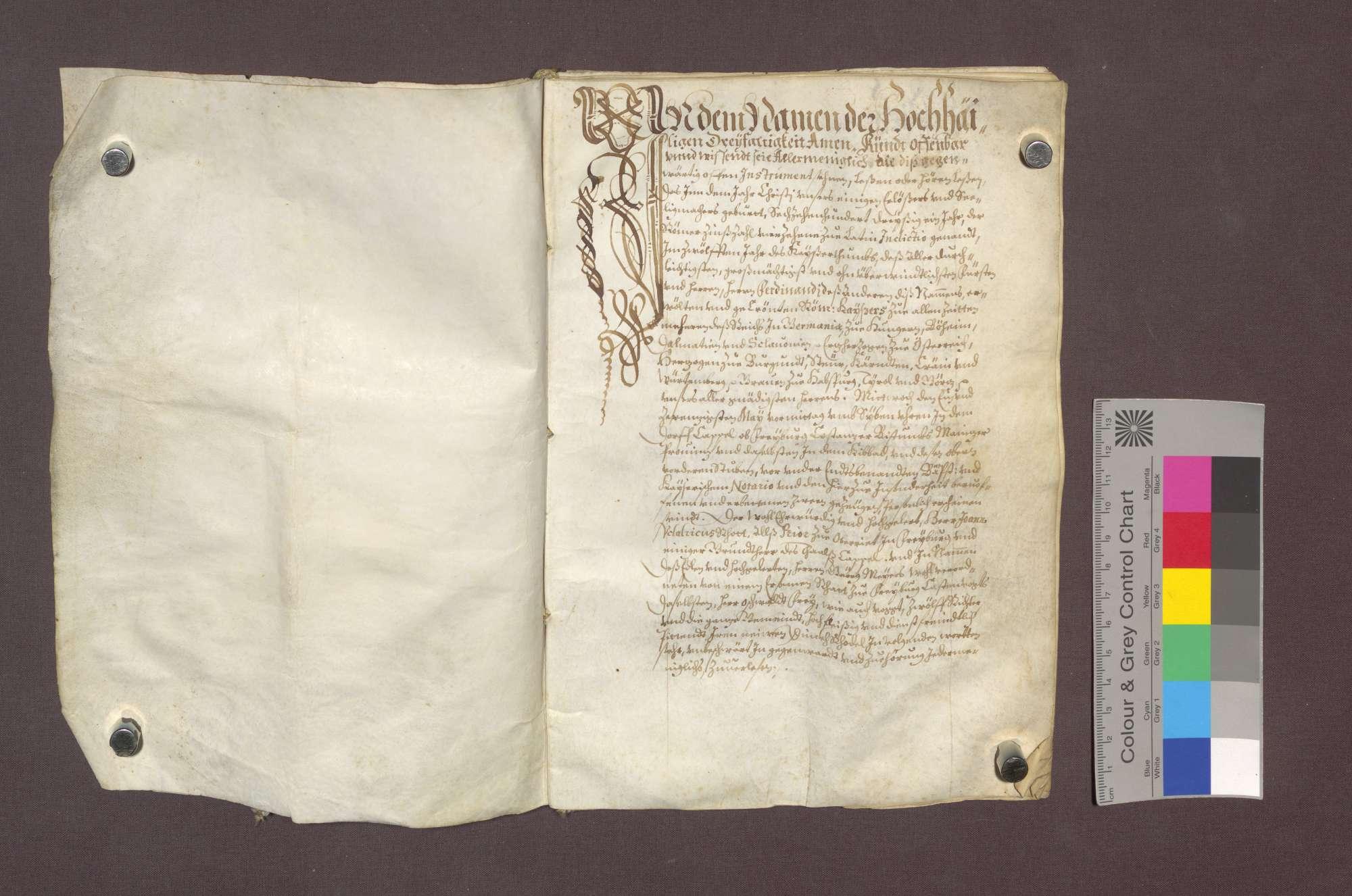 Dingrodel des Klosters Oberried zu Freiburg über das Kappeler Tal., Bild 2