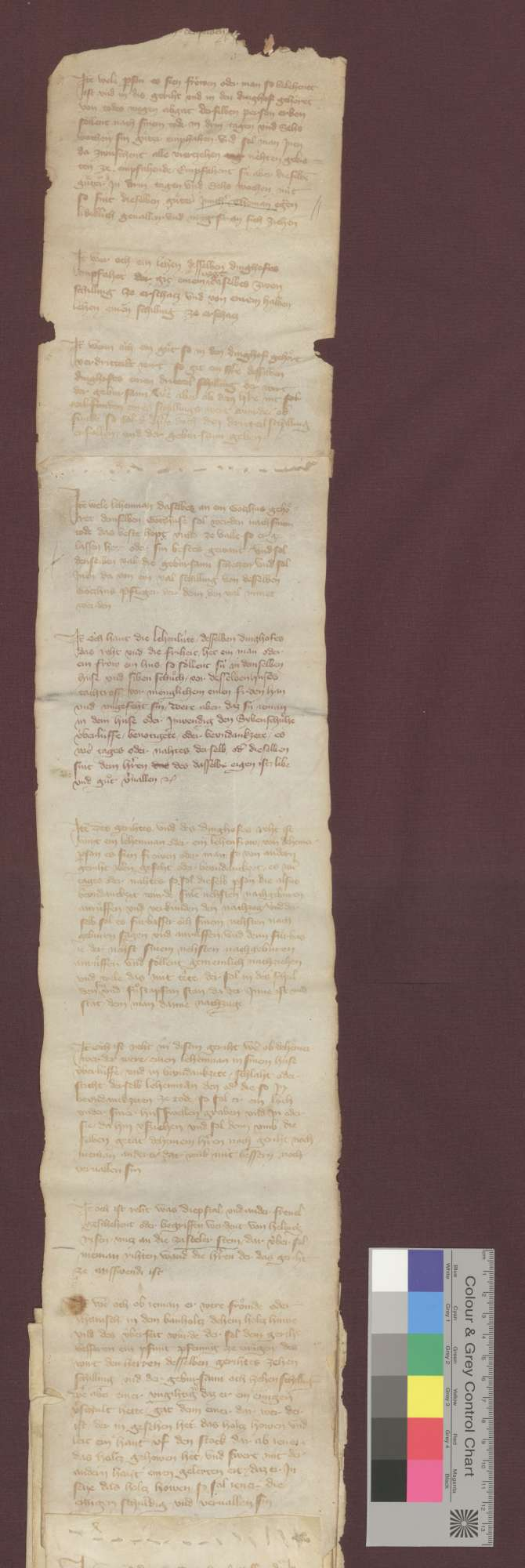 Dinghofsrecht des Falkensteiner Dinghofs zu Misswende und Zastler., Bild 1