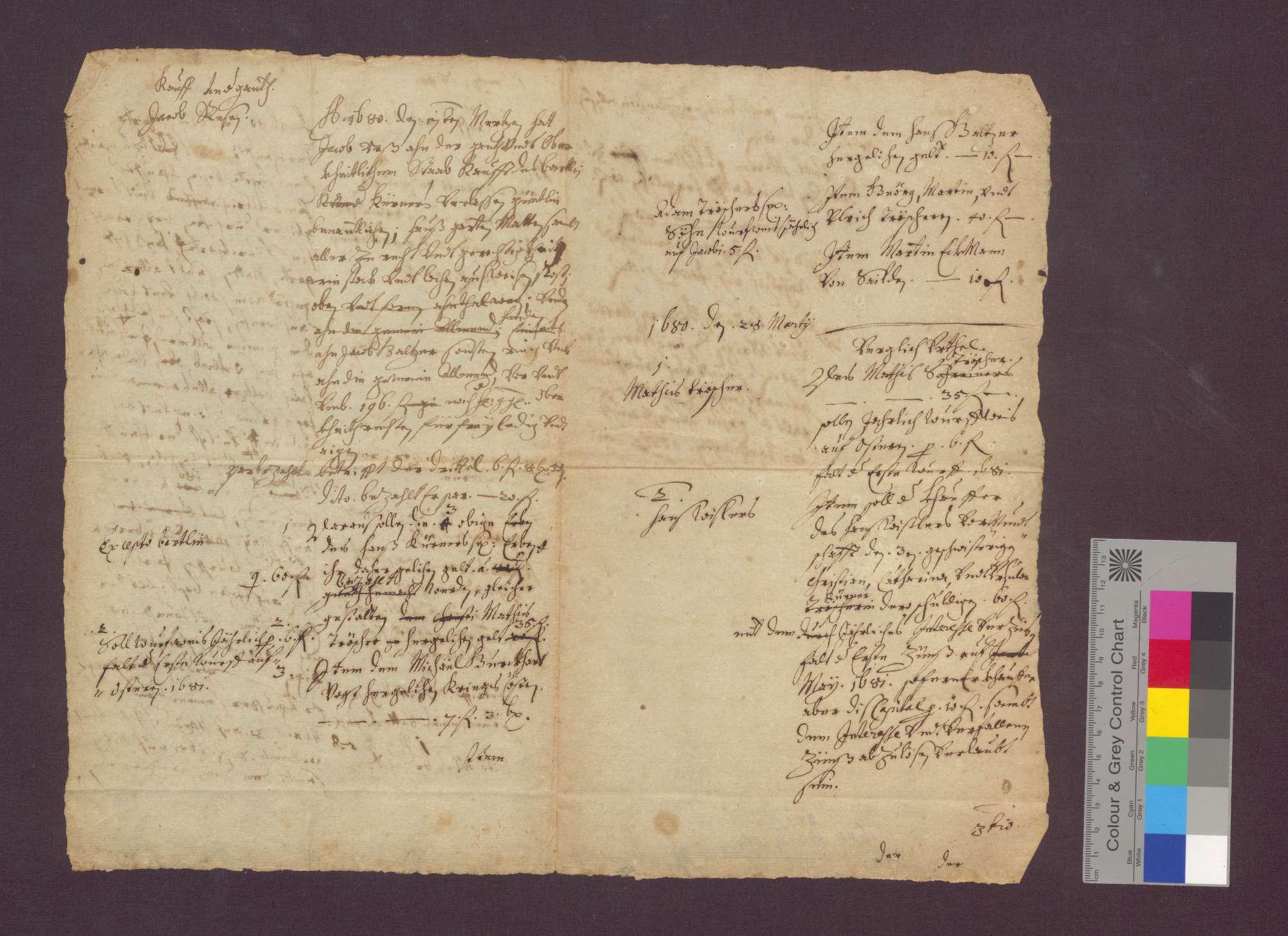 Die Gebrüder Gaiser von Oberried verkaufen ihrem Bruder Jakob Gaiser genannte Güter zu Oberried um 180 Gulden., Bild 2
