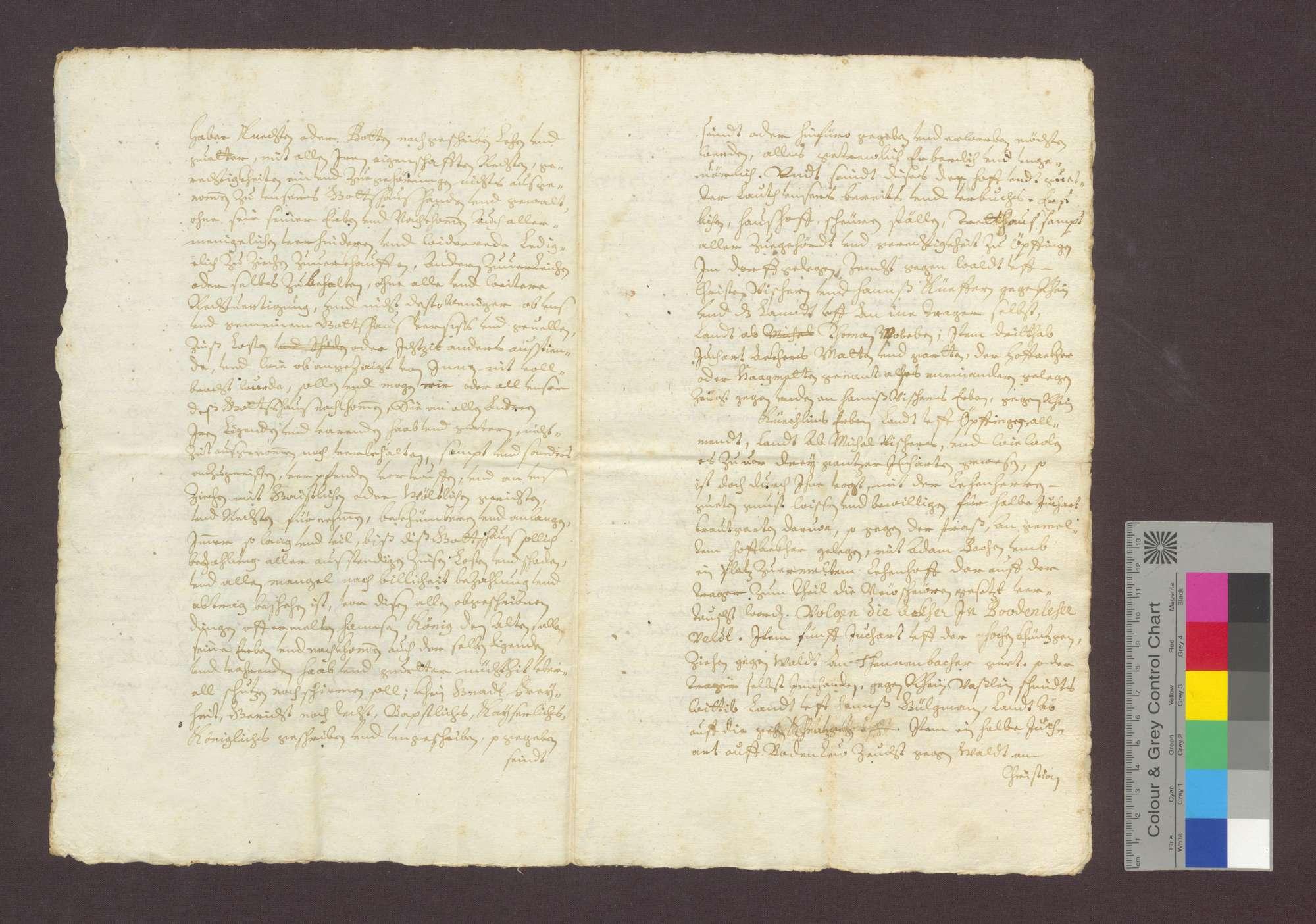 Hans König d. Ä., Vogt zu Opfingen, reversiert gegenüber dem Kloster Oberried zu Freiburg über den von ihm zu Erblehen empfangenen Hof zu Opfingen., Bild 3