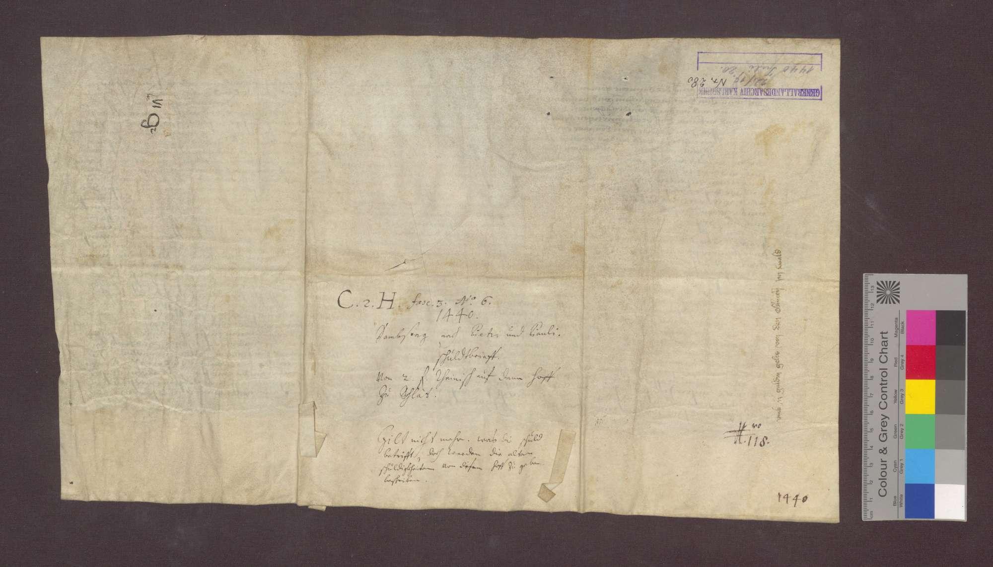 Kloster Oberried im Wald verkauft den vier Münsterherren und Kapellanen zu Freiburg einen jährlichen Zins von 2 Gulden von genannten Gütern zu Schlatt um 40 Gulden., Bild 2