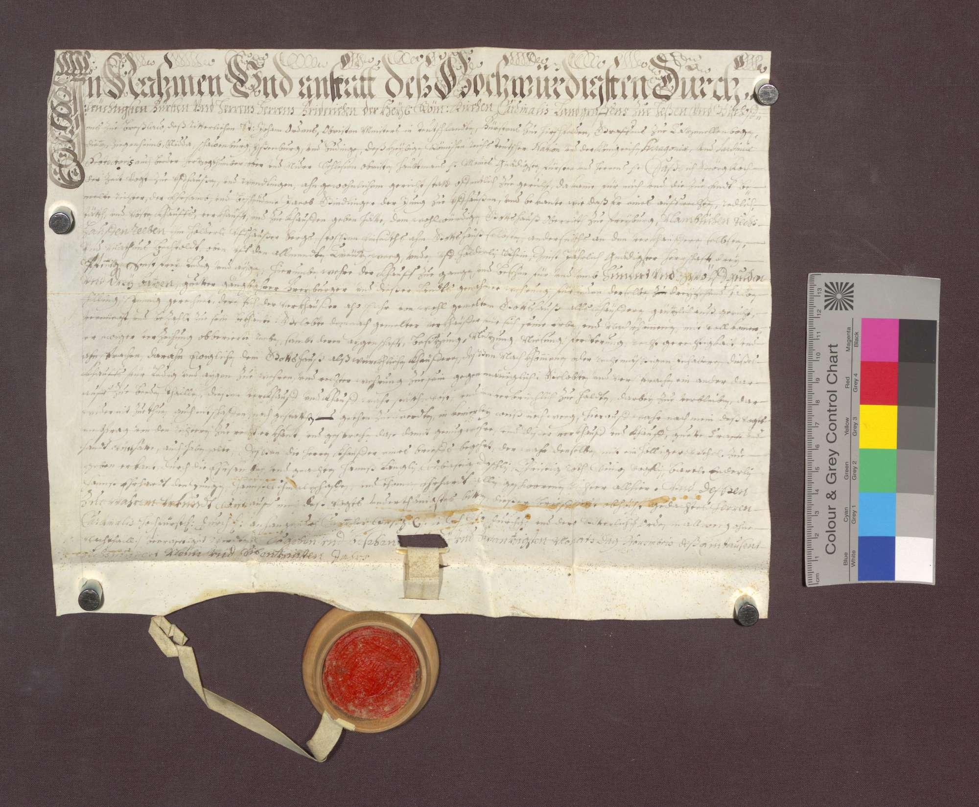 Jakob Gundlinger d. J. zu Uffhausen verkauft den Wilhelmiten zu Freiburg 6 Haufen Reben am Uffhauser Berg um 112 Gulden 3 Batzen., Bild 1