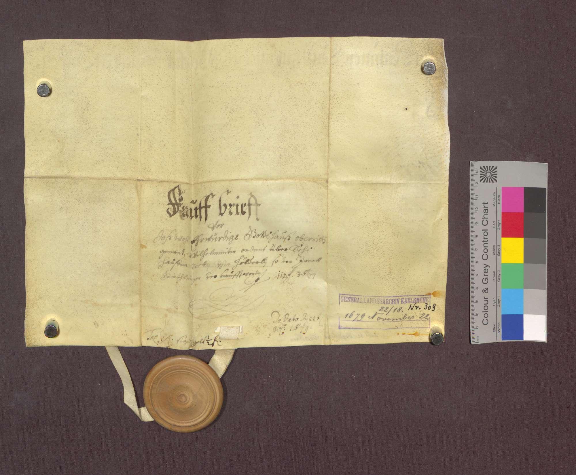 Jakob Gundlinger d. J. zu Uffhausen verkauft den Wilhelmiten zu Freiburg 6 Haufen Reben am Uffhauser Berg um 112 Gulden 3 Batzen., Bild 2