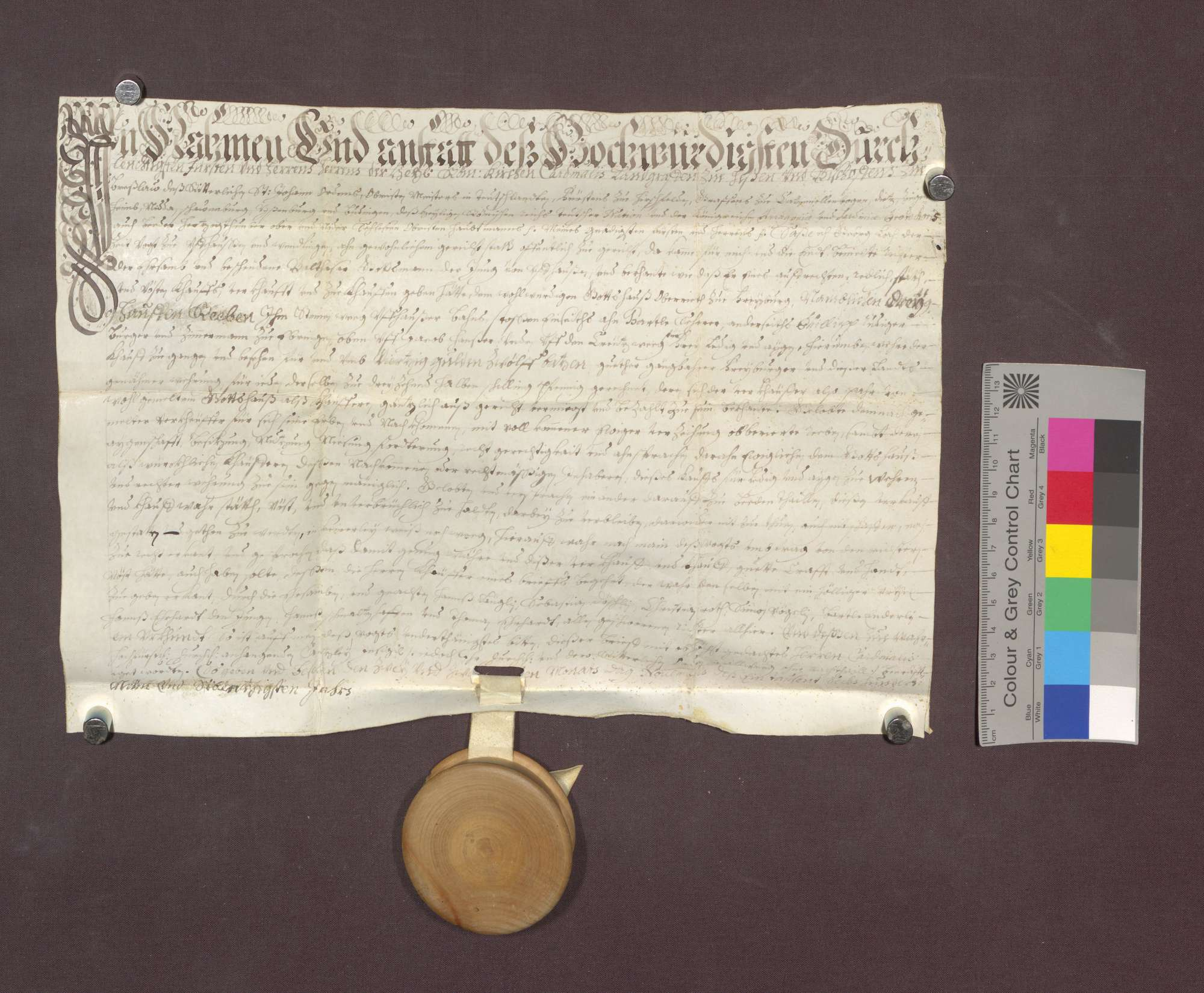Balthasar Gottsmann verkauft den Wilhelmiten zu Freiburg 3 Haufen Reben im Steinernen Weg zu Uffhausen um 40 Gulden 12 Batzen., Bild 1