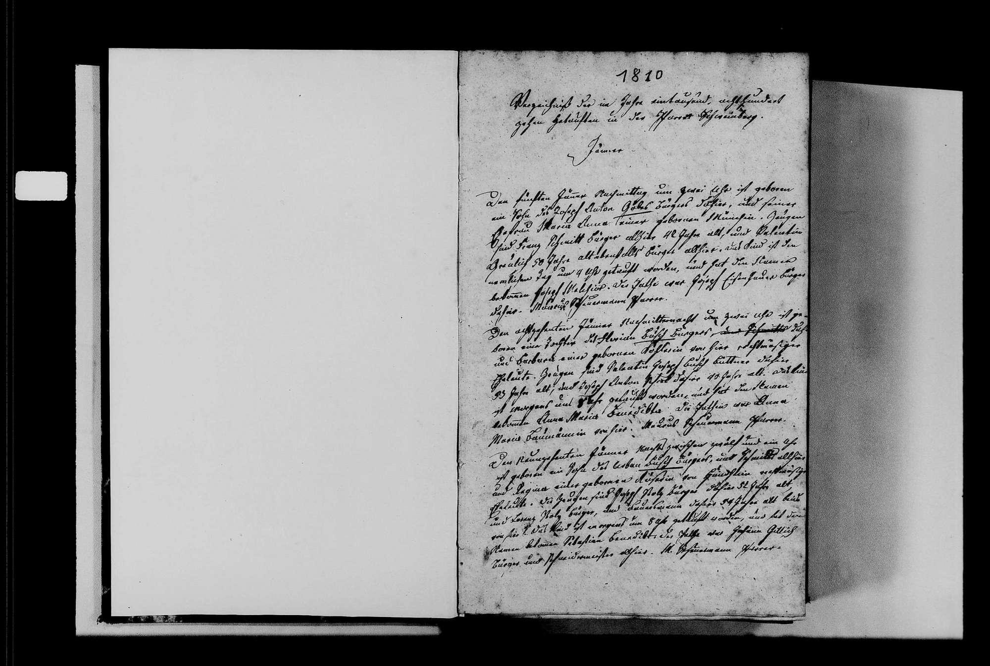 Schweinberg, katholische Gemeinde: Standesbuch 1810-1830, Bild 3