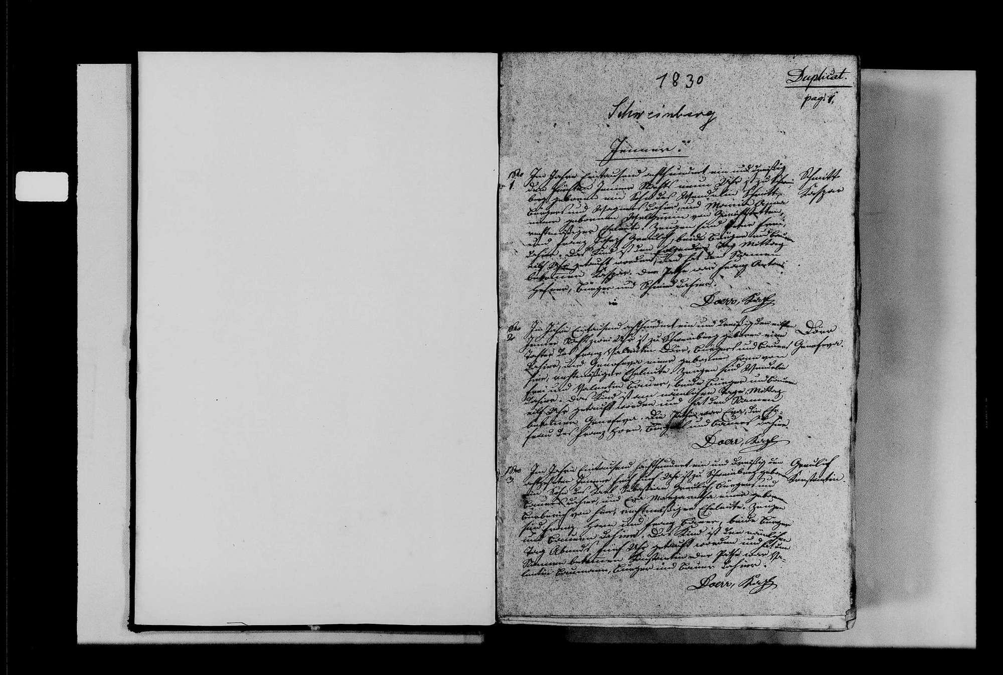 Schweinberg, katholische Gemeinde: Standesbuch 1831-1850, Bild 3