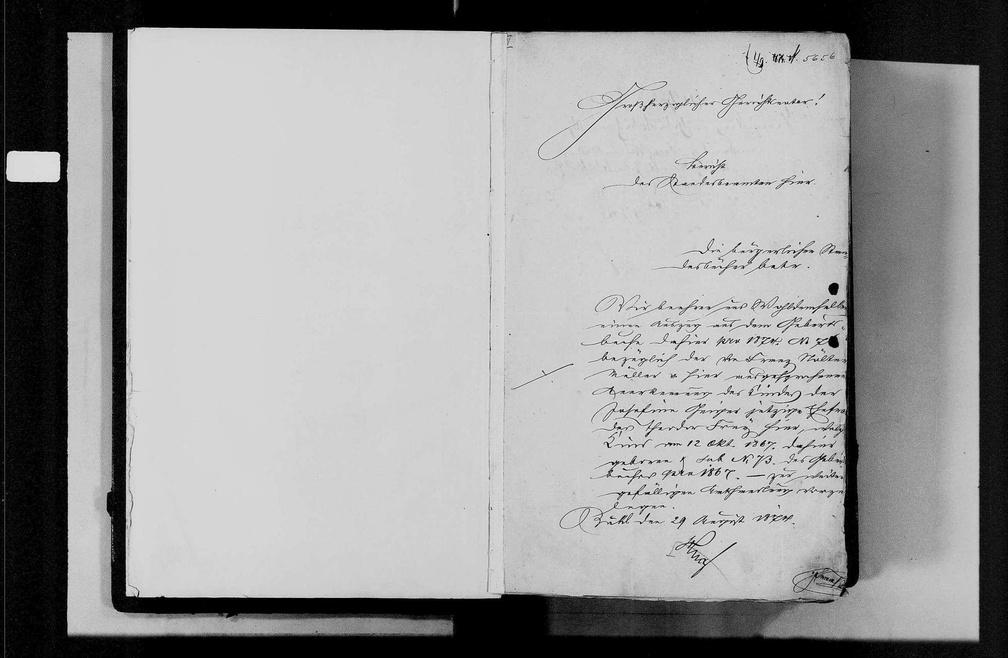 Bühl, katholische und israelitische Gemeinde: Geburtenbuch 1857-1870, Bild 3
