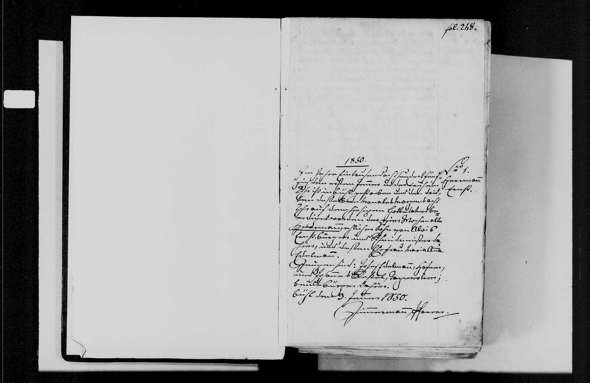 Bühl, katholische und israelitische Gemeinde: Sterbebuch 1850-1870, Bild 3