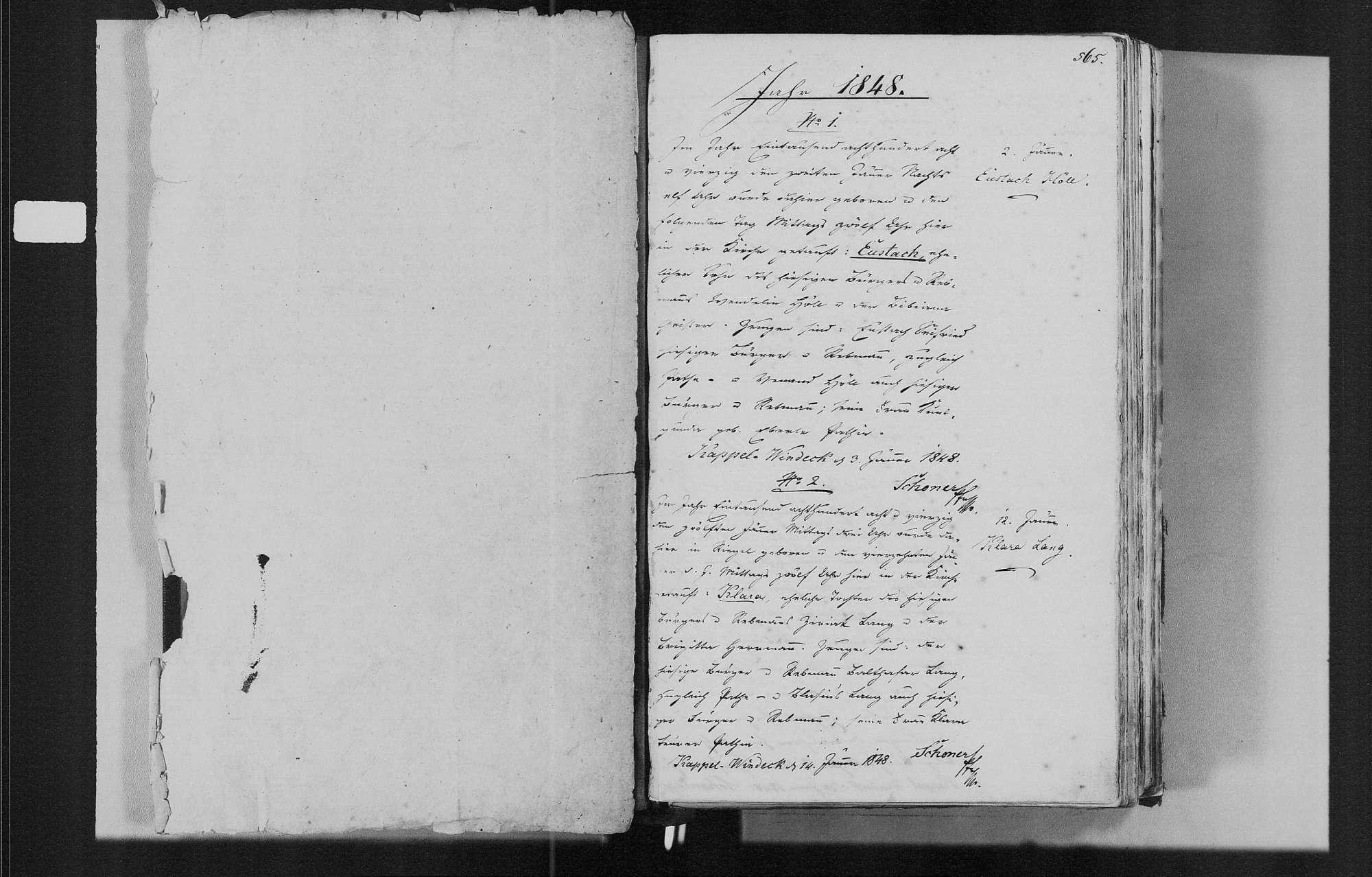 Bühl (Ortsteil Kappelwindeck), katholische Gemeinde: Geburtenbuch 1848-1868, Bild 3