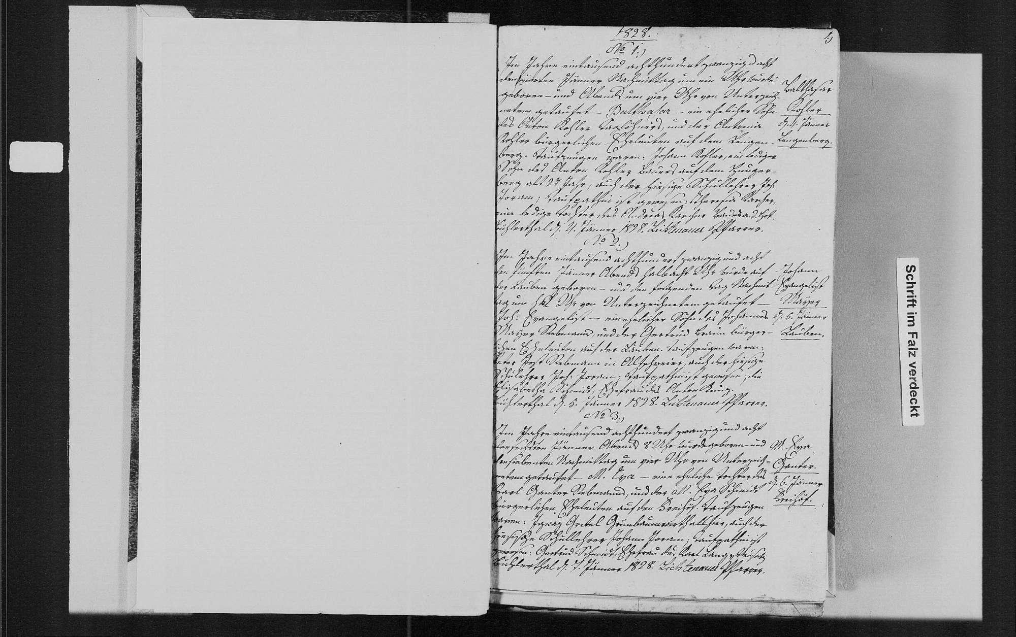 Bühlertal, katholische Gemeinde: Geburtenbuch 1828-1841, Bild 3