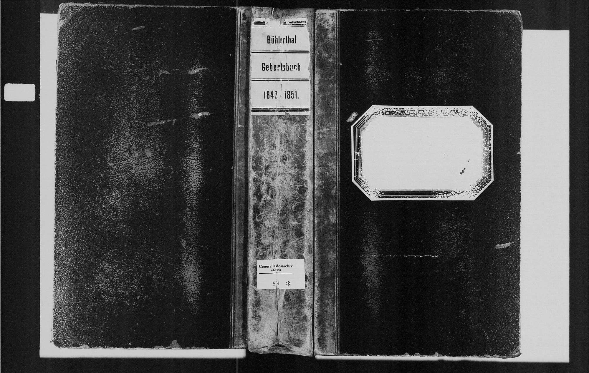 Bühlertal, katholische Gemeinde: Geburtenbuch 1842-1851, Bild 1
