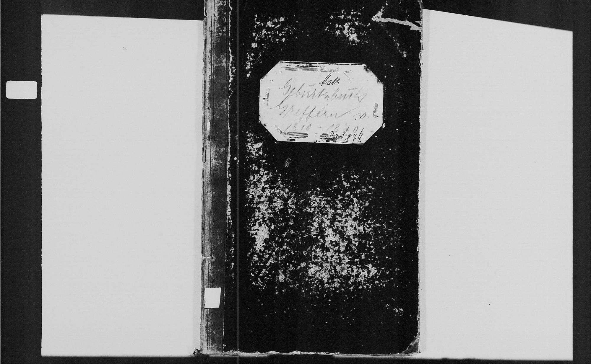 Greffern, katholische Gemeinde: Geburtenbuch 1810-1870, Bild 1