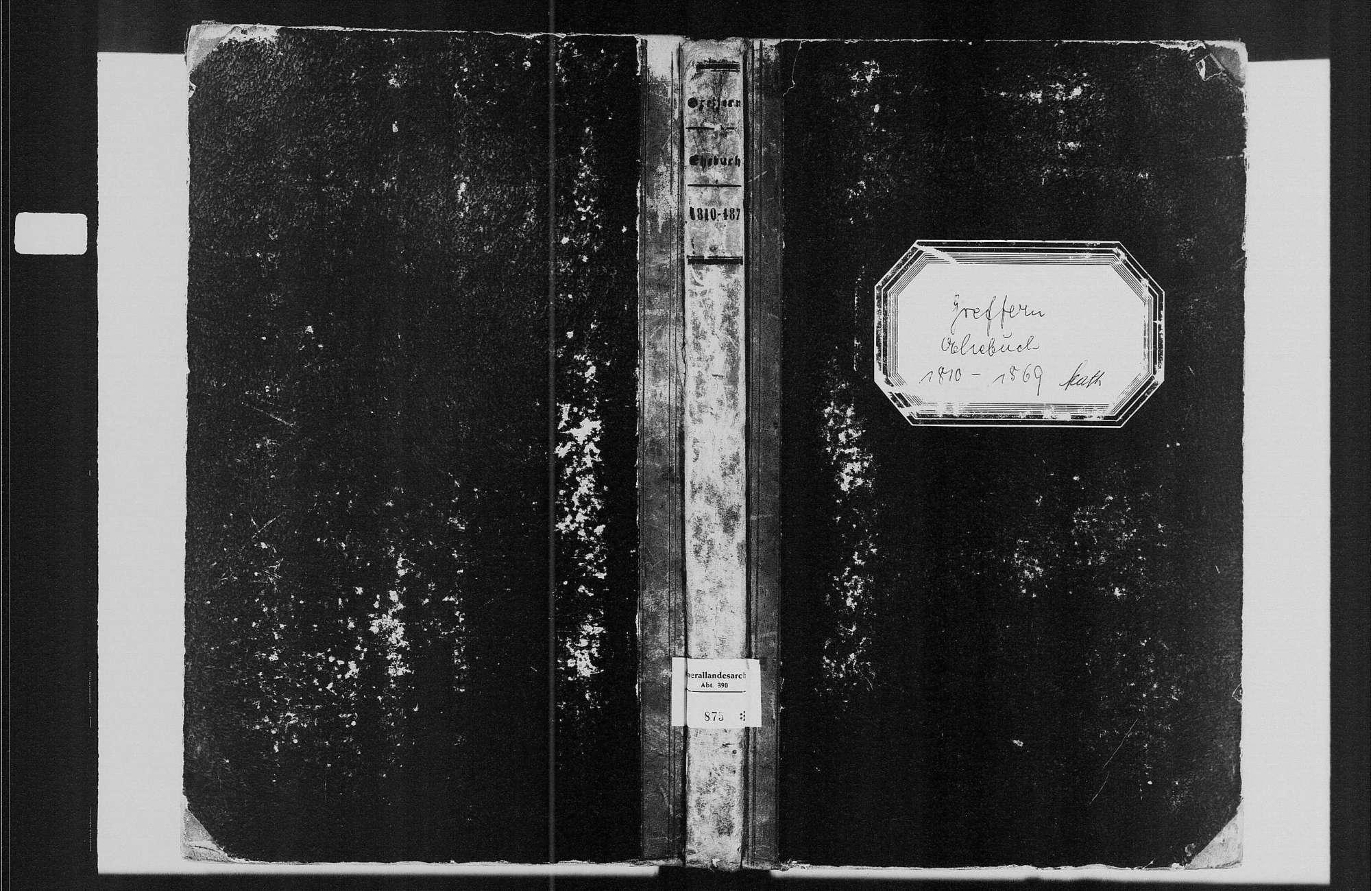 Greffern, katholische Gemeinde: Heiratsbuch 1810-1870, Bild 1