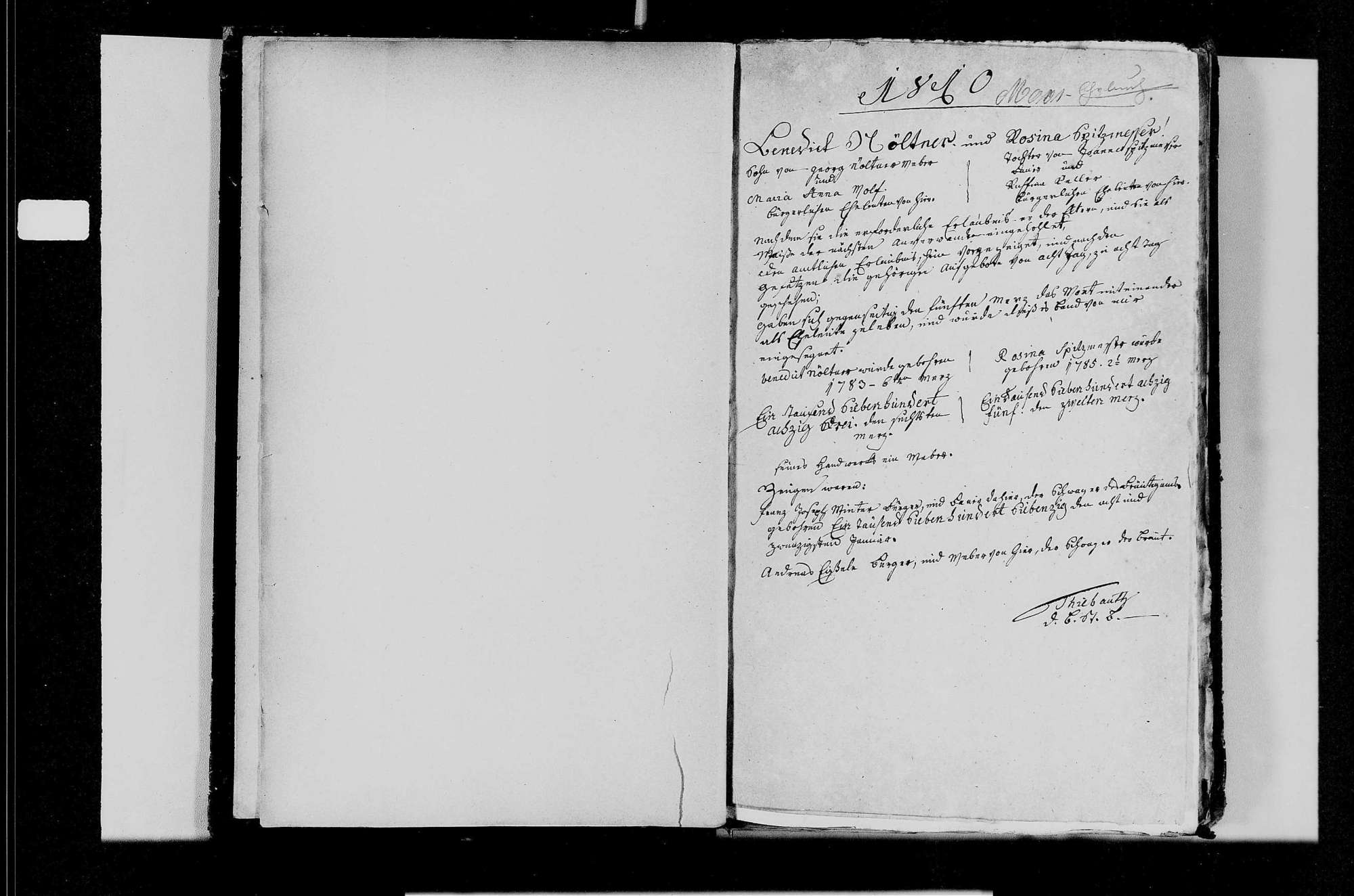 Moos, katholische Gemeinde: Heiratsbuch 1810-1870, Bild 3