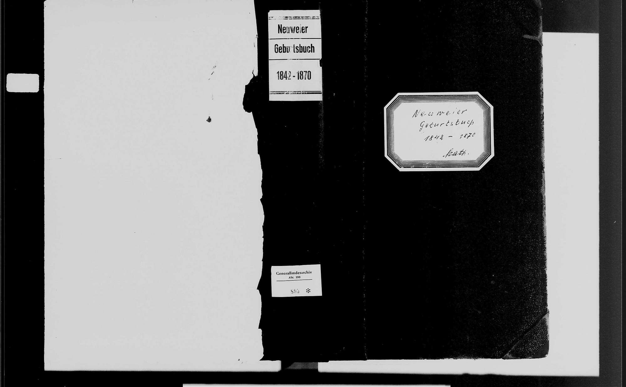 Neuweier, katholische Gemeinde: Geburtenbuch 1842-1870, Bild 1