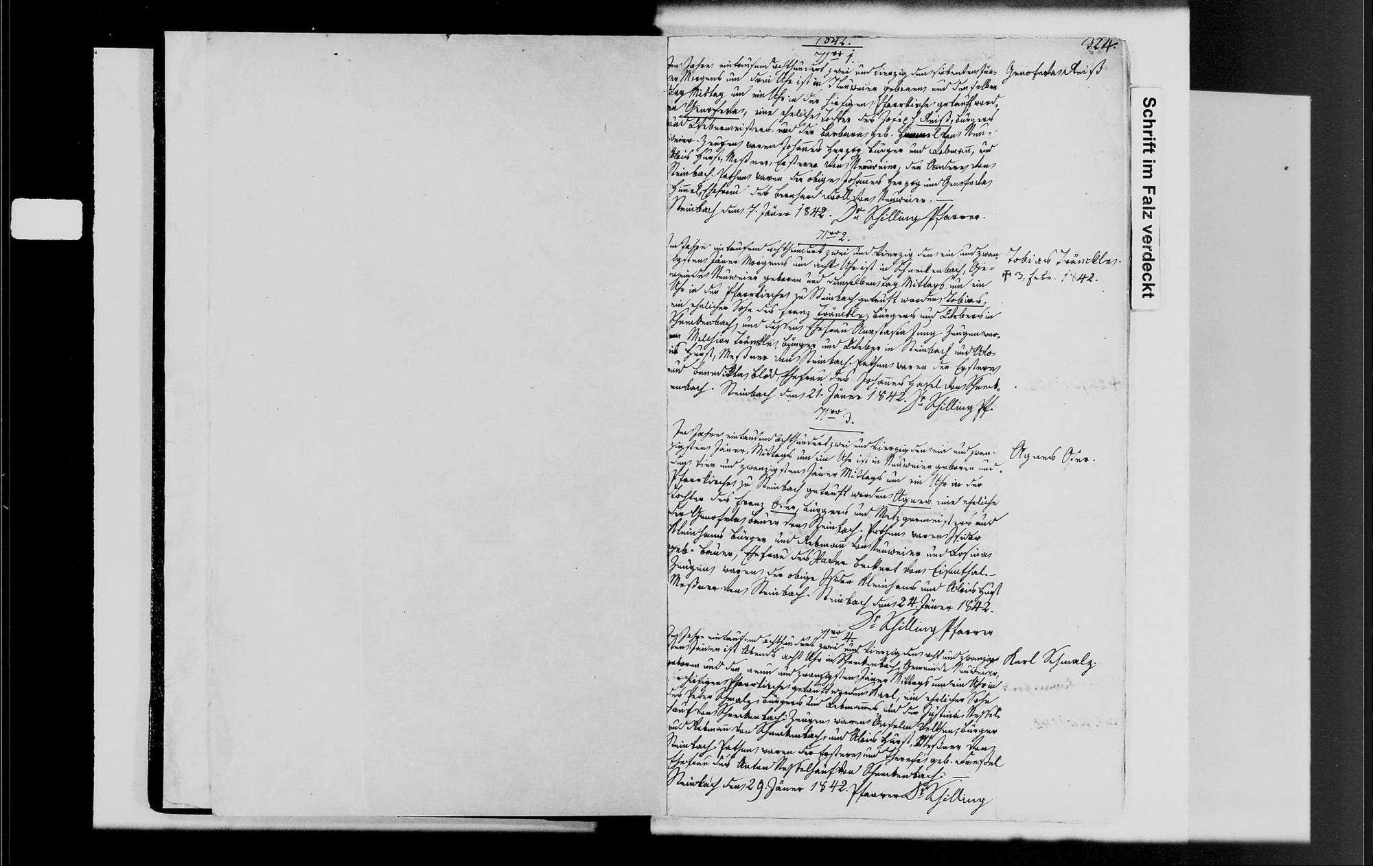 Neuweier, katholische Gemeinde: Geburtenbuch 1842-1870, Bild 3
