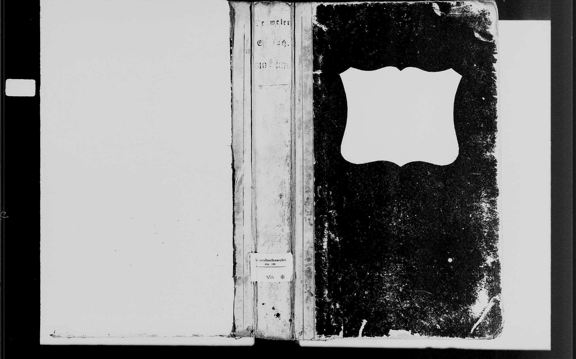 Neuweier, katholische Gemeinde: Heiratsbuch 1810-1870, Bild 1
