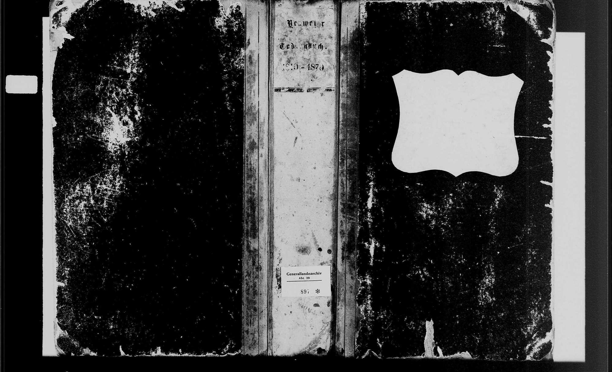 Neuweier, katholische Gemeinde: Sterbebuch 1810-1870, Bild 1