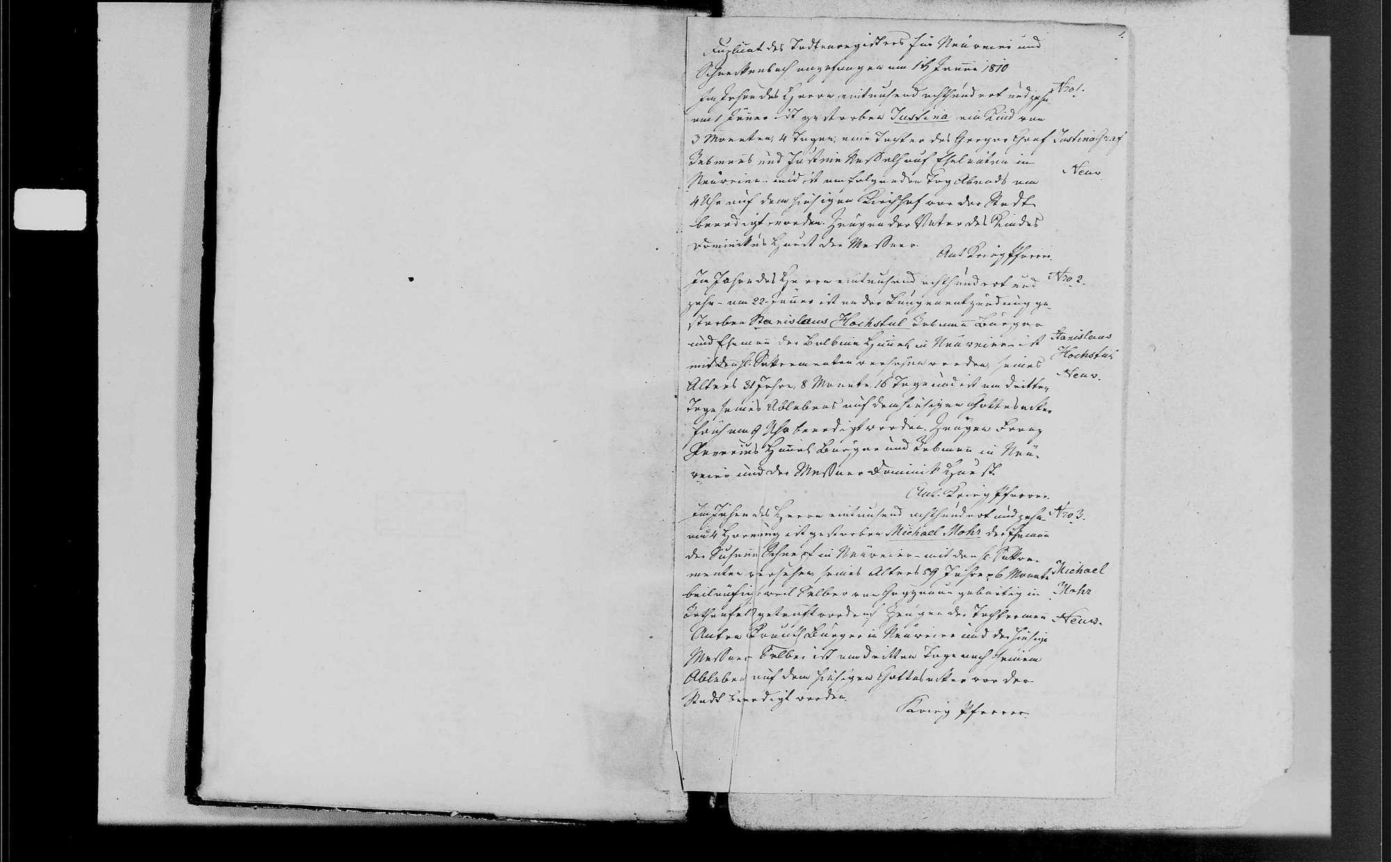 Neuweier, katholische Gemeinde: Sterbebuch 1810-1870, Bild 2