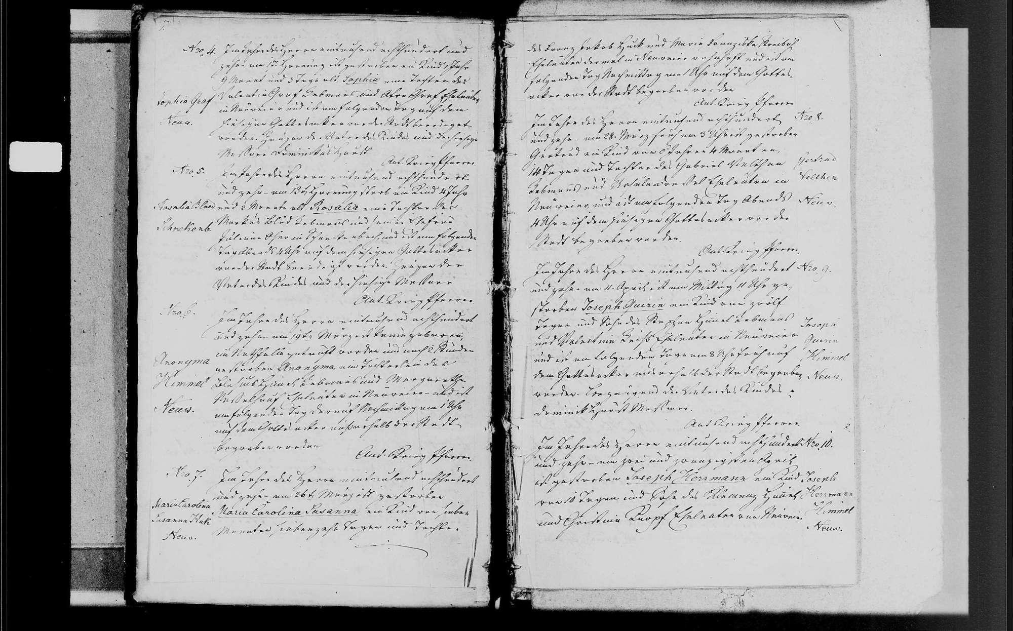 Neuweier, katholische Gemeinde: Sterbebuch 1810-1870, Bild 3
