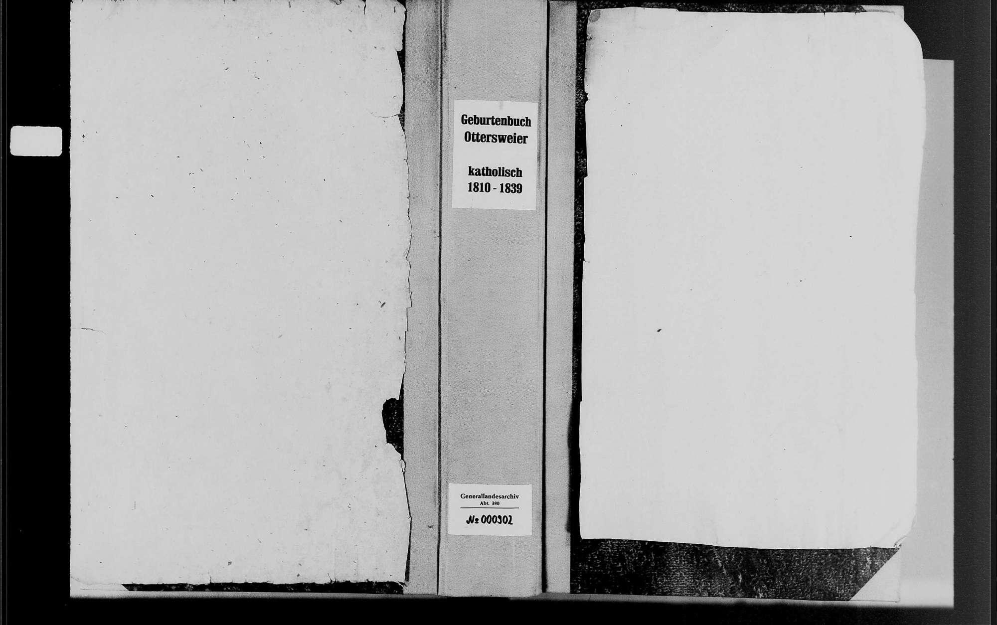 Ottersweier, katholische Gemeinde: Geburtenbuch 1810-1838, Bild 1