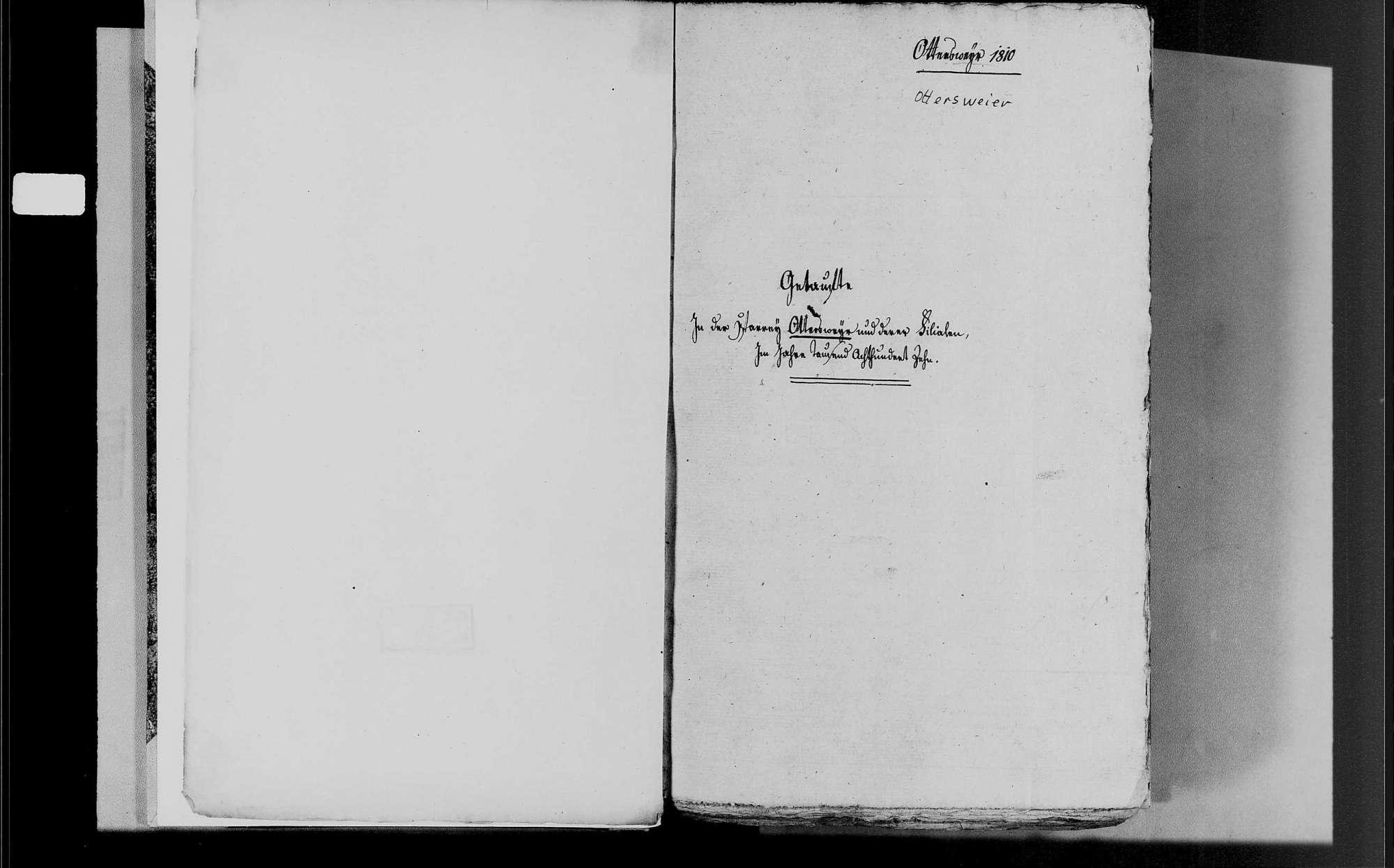 Ottersweier, katholische Gemeinde: Geburtenbuch 1810-1838, Bild 3