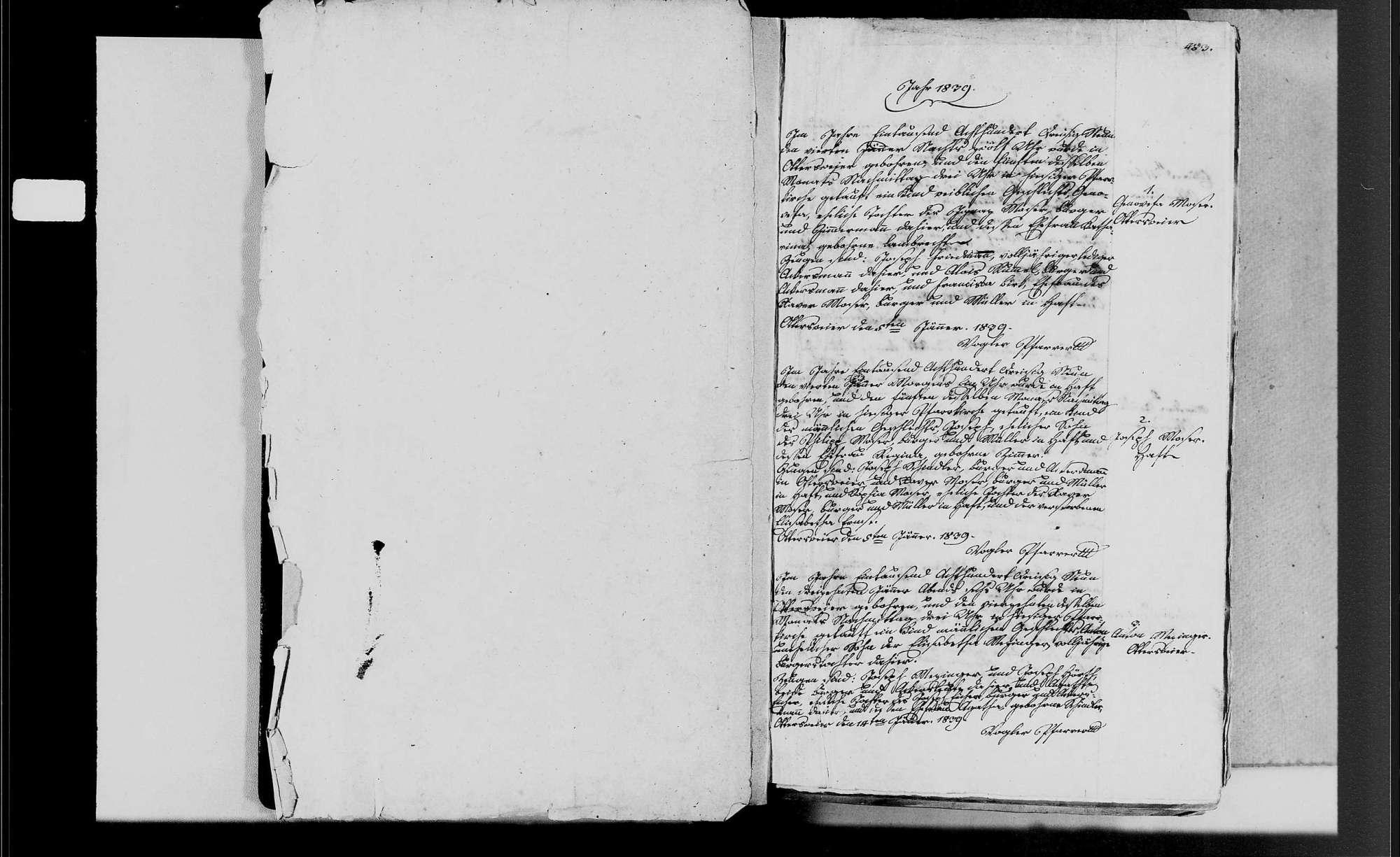 Ottersweier, katholische Gemeinde: Geburtenbuch 1839-1853, Bild 3