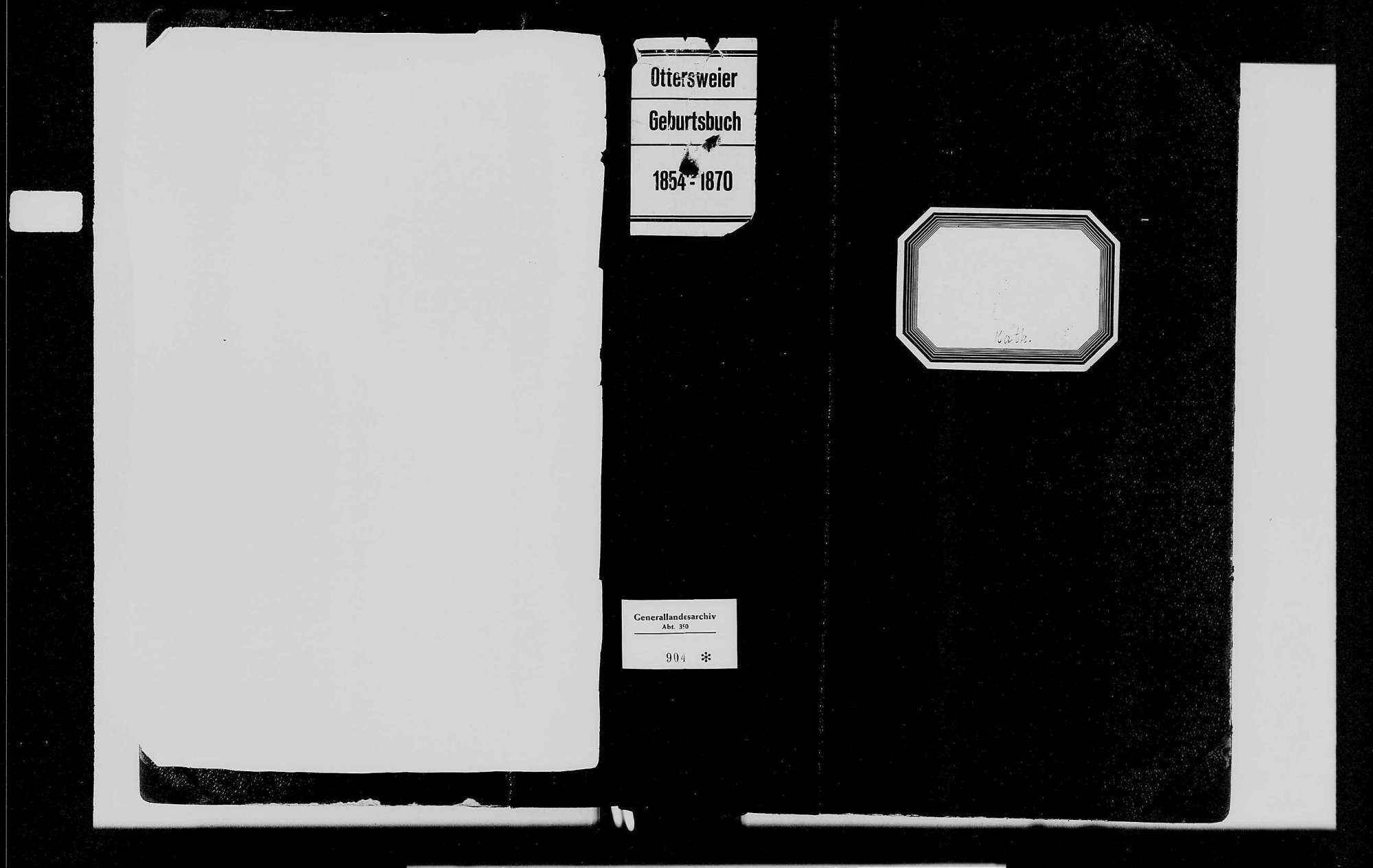 Ottersweier, katholische Gemeinde: Geburtenbuch 1854-1870, Bild 1