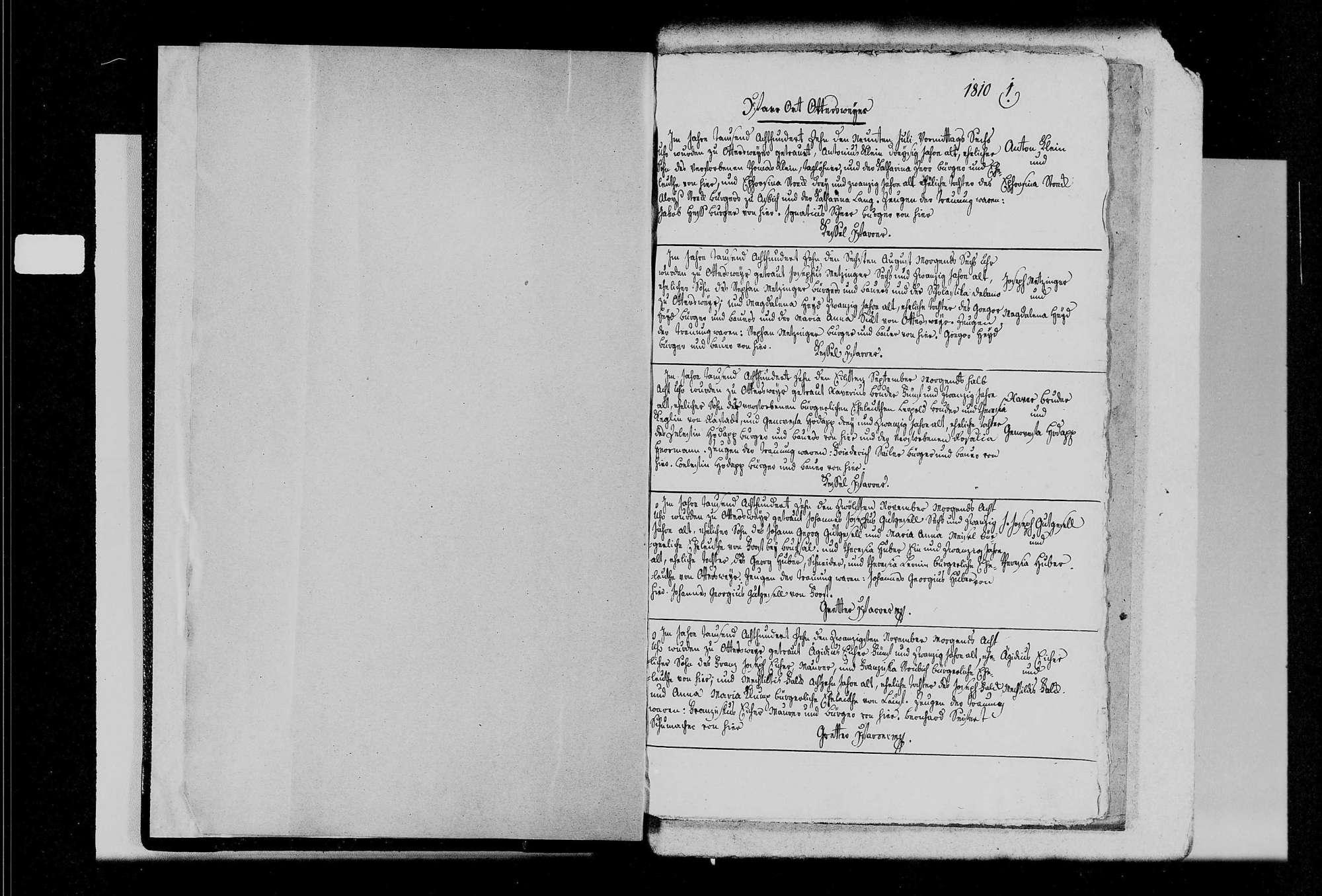 Ottersweier, katholische Gemeinde: Heiratsbuch 1810-1870, Bild 3