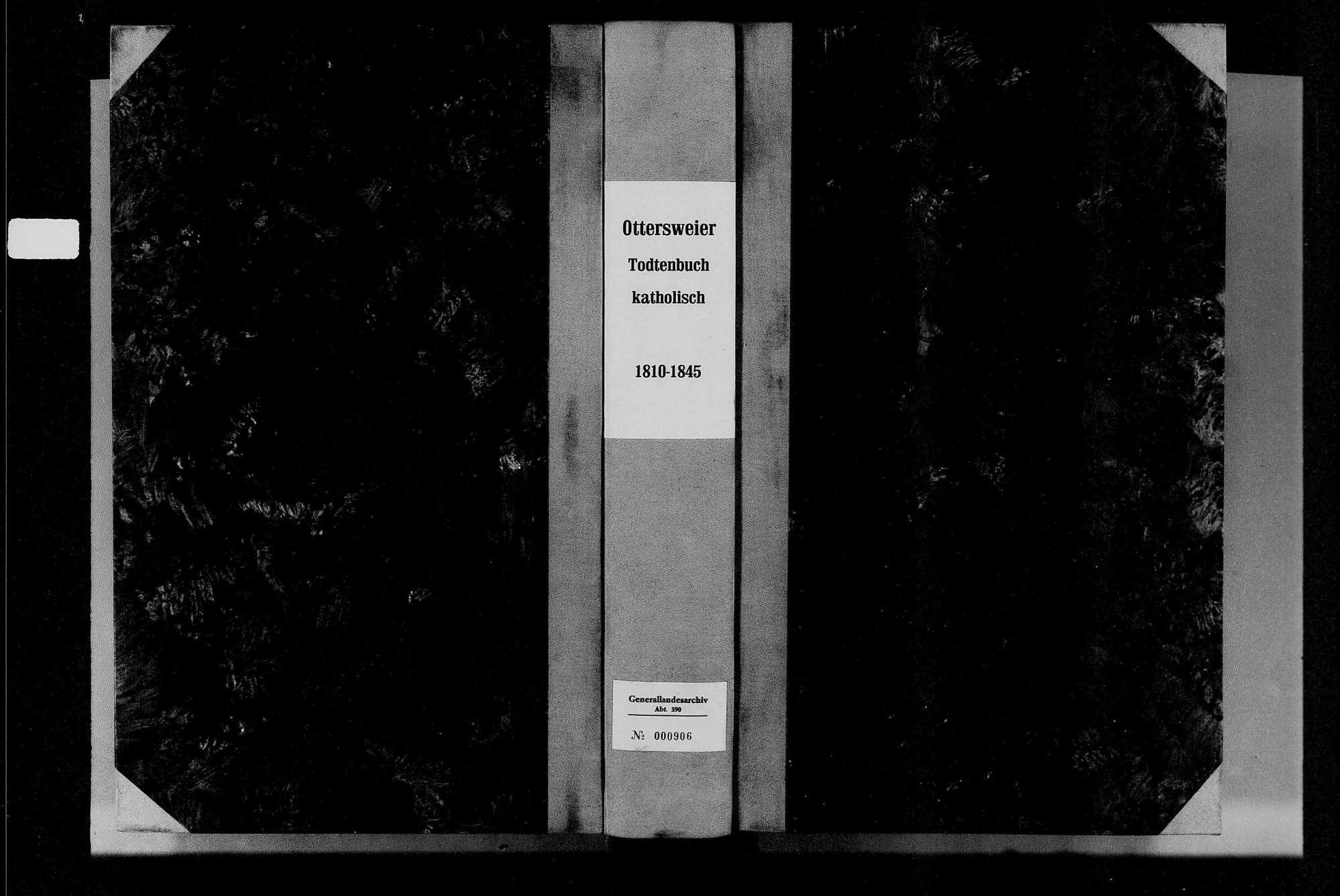 Ottersweier, katholische Gemeinde: Sterbebuch 1810-1845, Bild 1