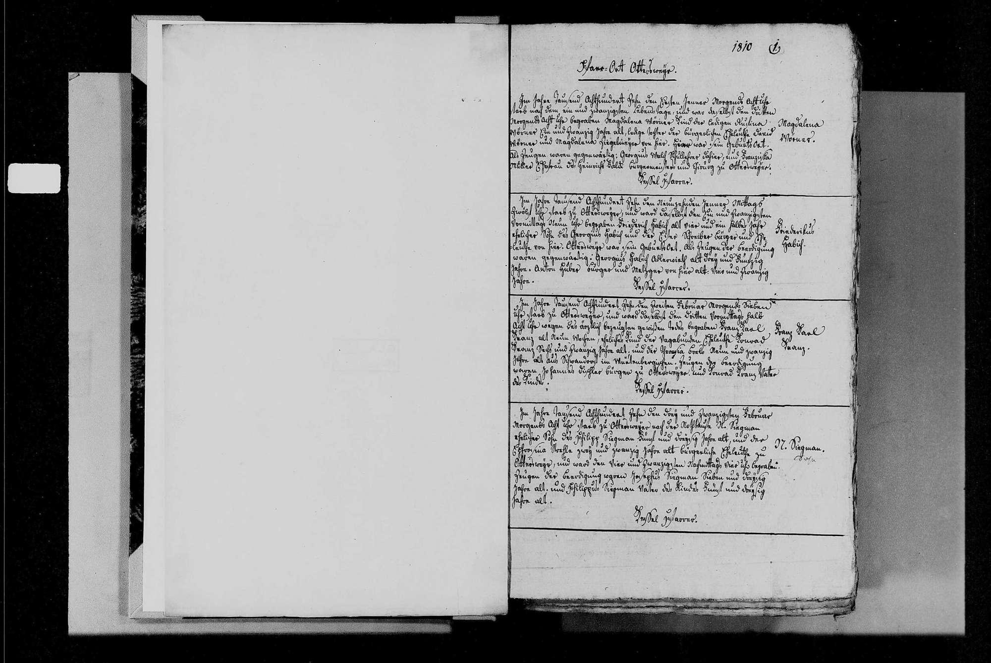 Ottersweier, katholische Gemeinde: Sterbebuch 1810-1845, Bild 3