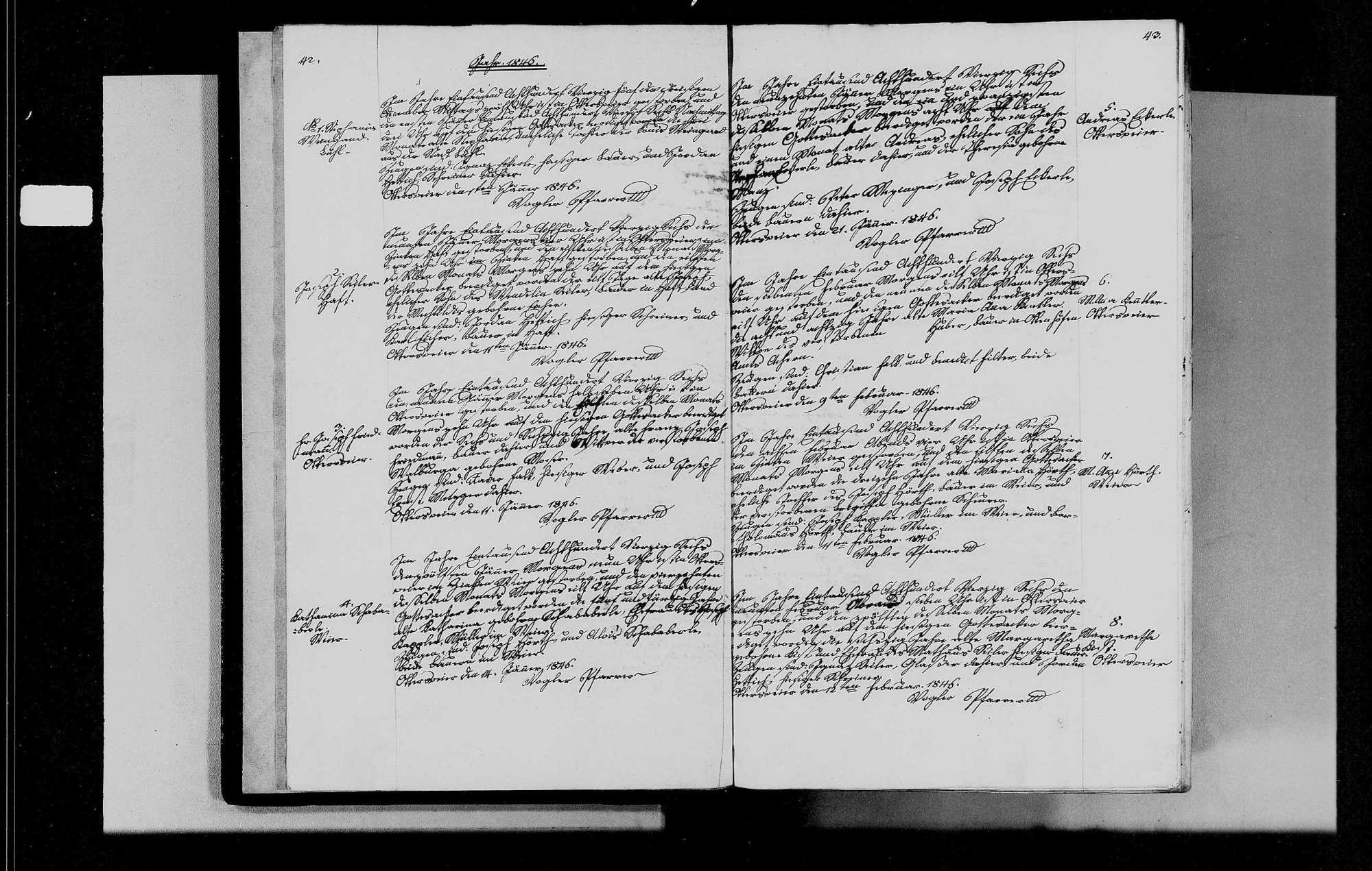 Ottersweier, katholische Gemeinde: Sterbebuch 1846-1870, Bild 3