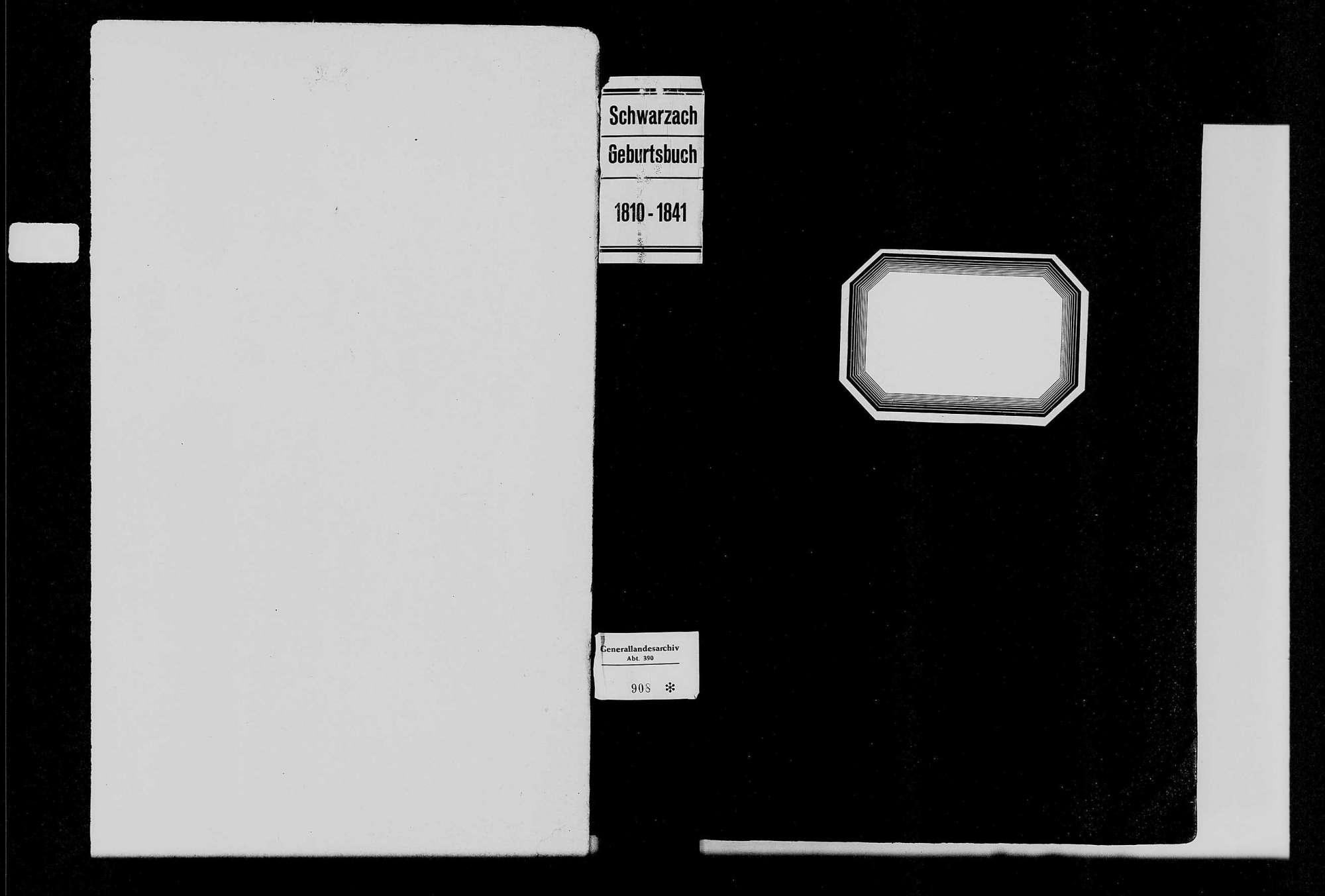 Schwarzach, evangelische, katholische und israelitische Gemeinde: Geburtenbuch 1810-1841, Bild 1