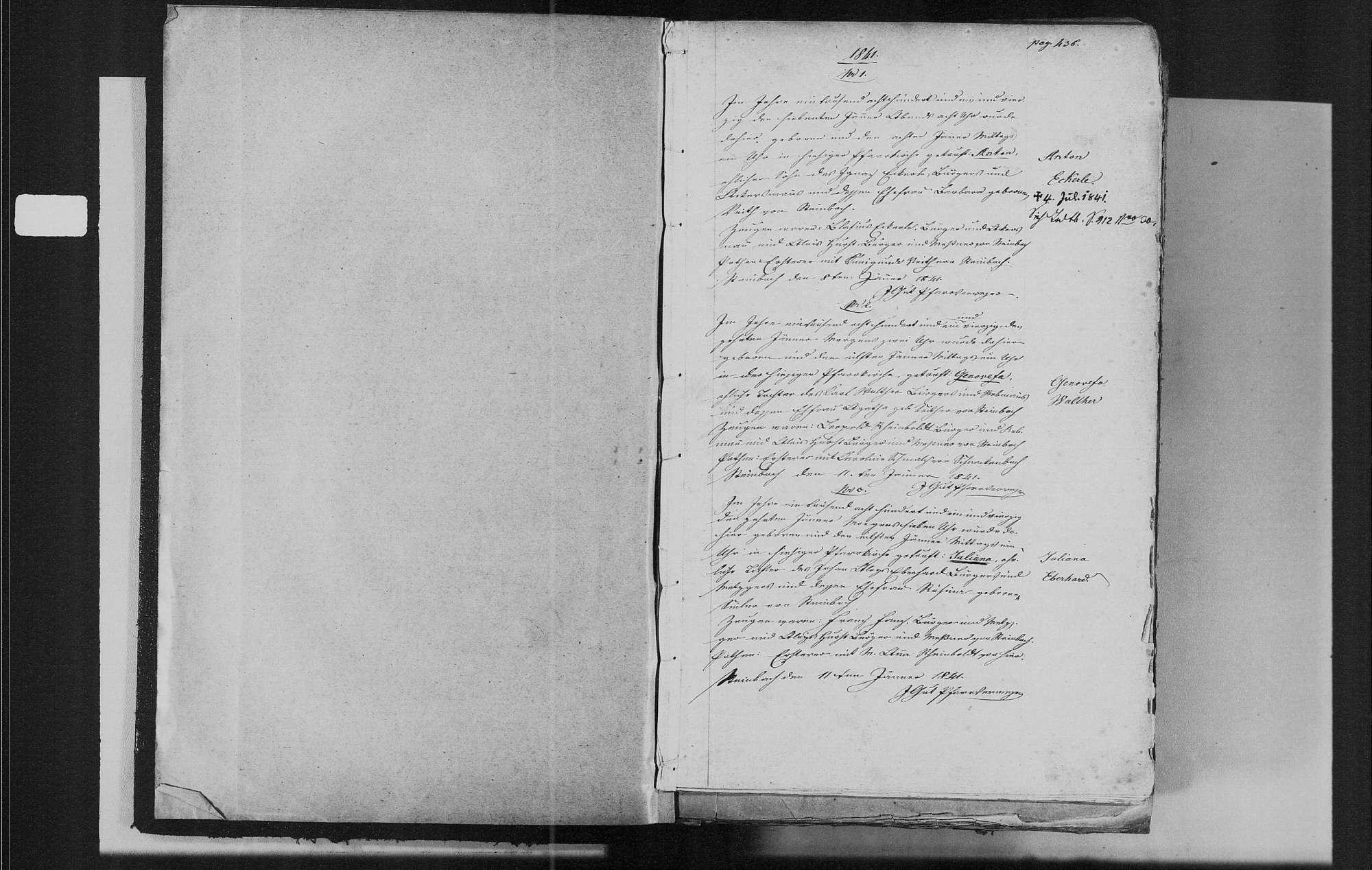 Steinbach, katholische Gemeinde: Geburtenbuch 1841-1870, Bild 3