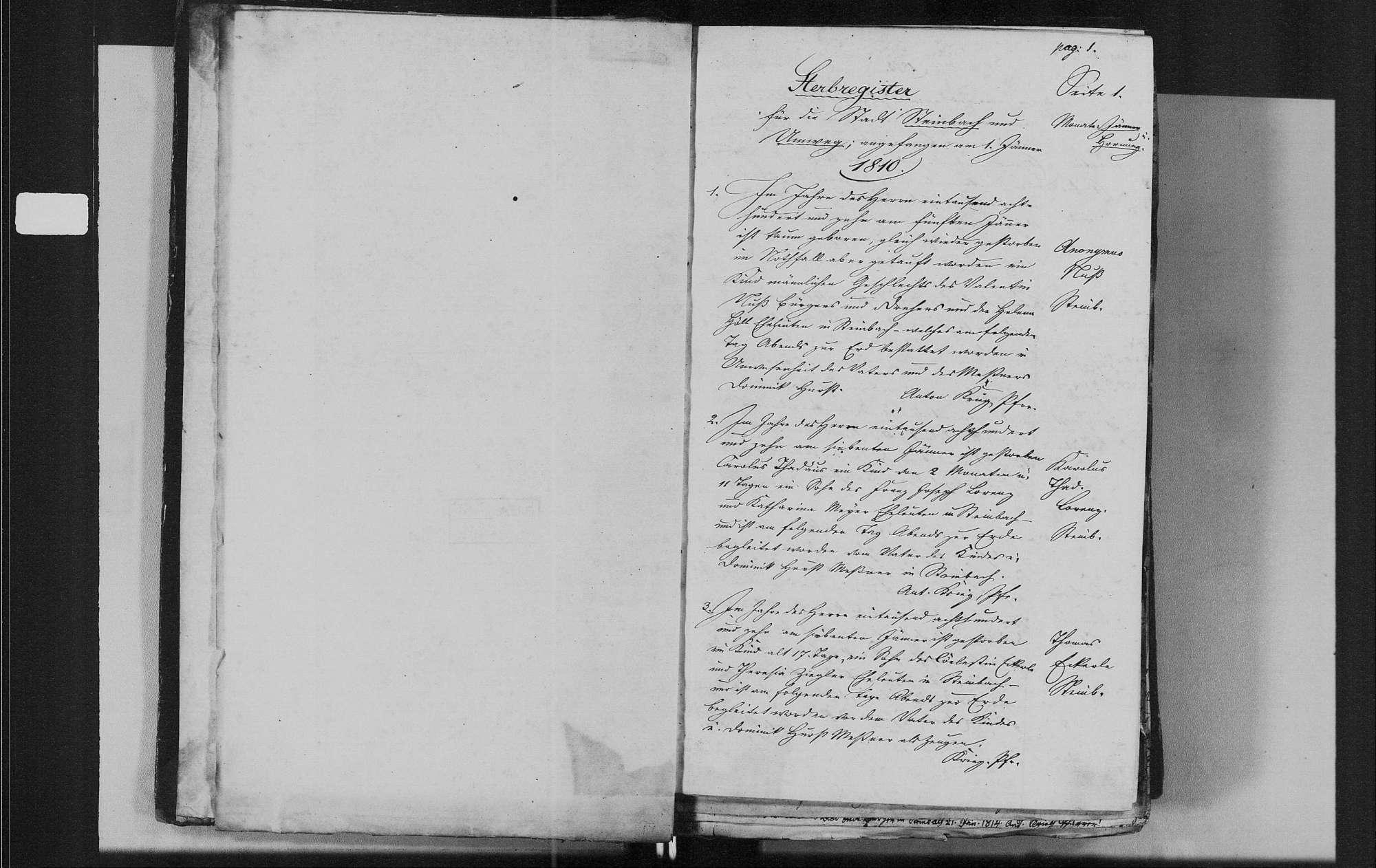 Steinbach, katholische Gemeinde: Sterbebuch 1810-1840, Bild 3