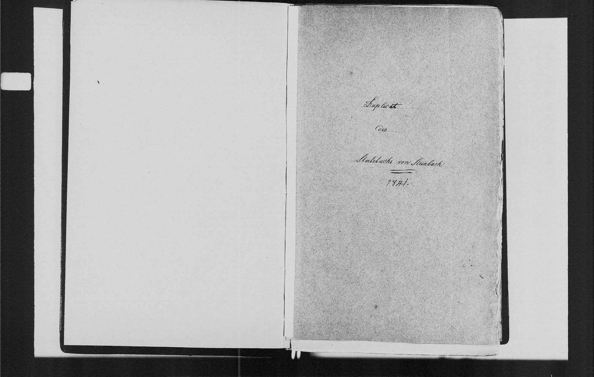 Steinbach, katholische Gemeinde: Sterbebuch 1841-1870, Bild 3
