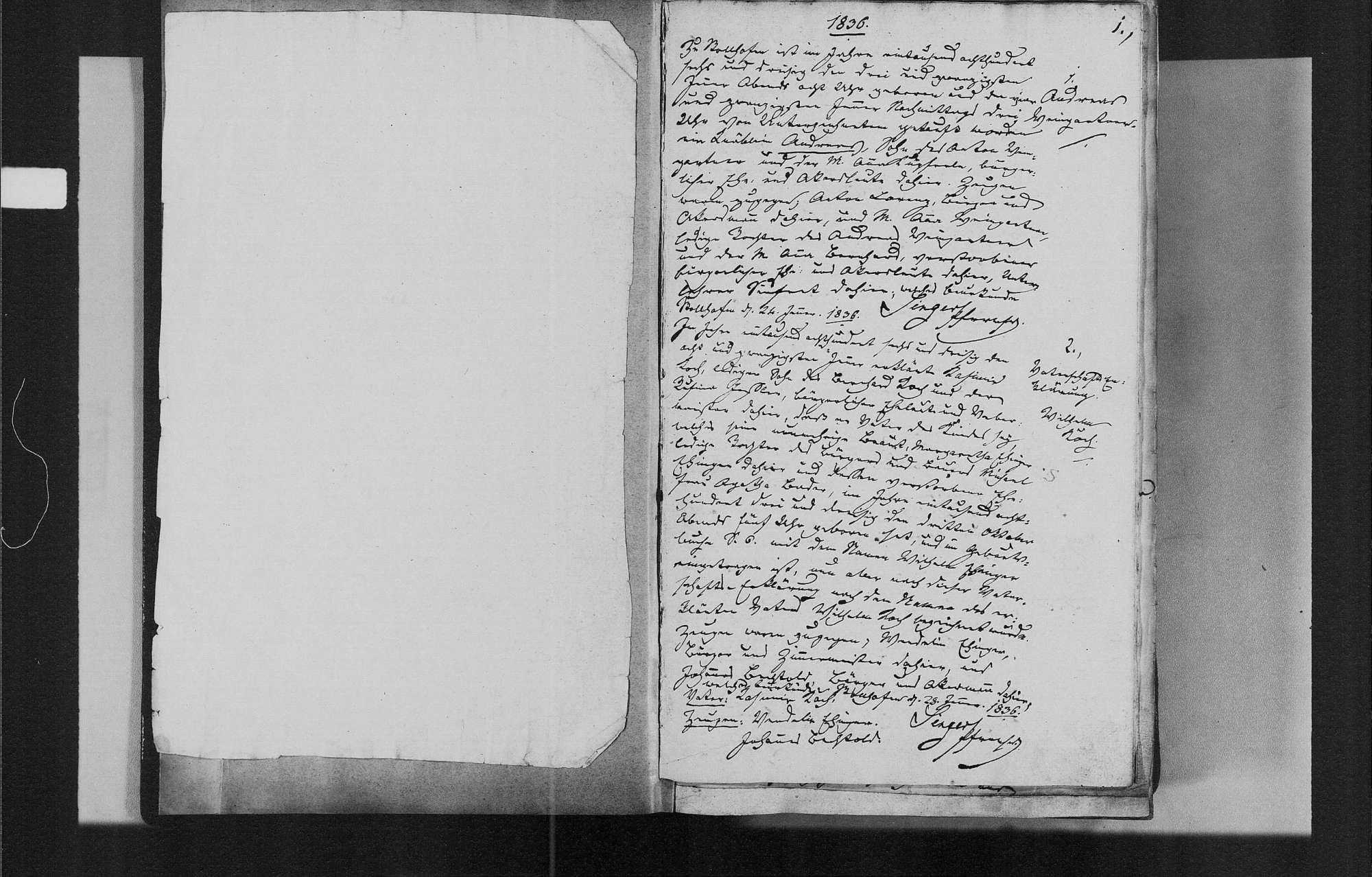 Stollhofen, katholische Gemeinde: Geburtenbuch 1836-1869, Bild 3